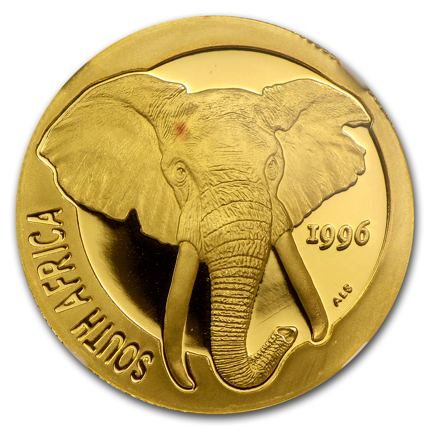 1996 South Africa 1/2 oz Proof Gold Natura Elephant PF-69 NGC