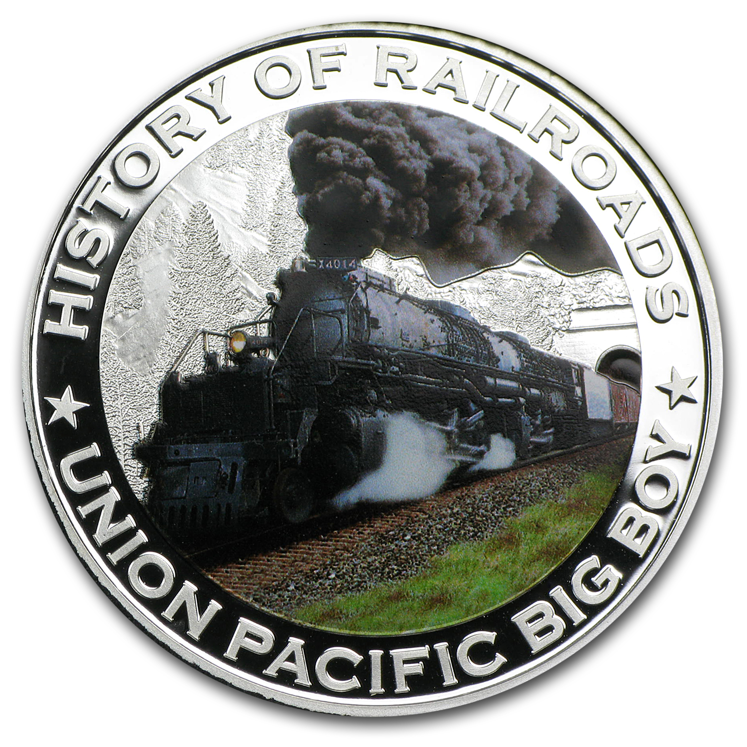 2011 Liberia Silver $5 Union Pacific Big Boy Proof