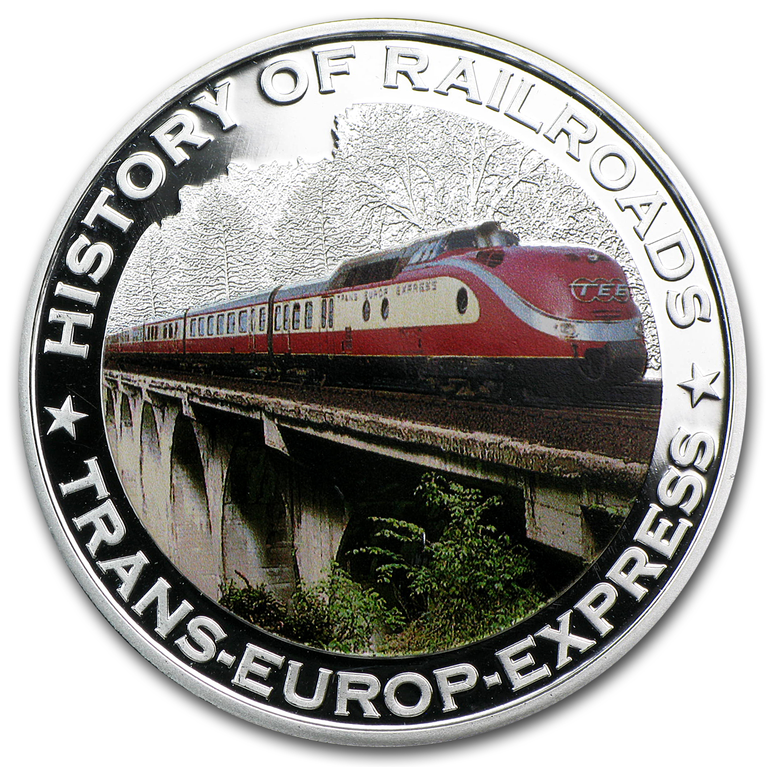 2011 Liberia Silver $5 Trans-Europe Express Proof
