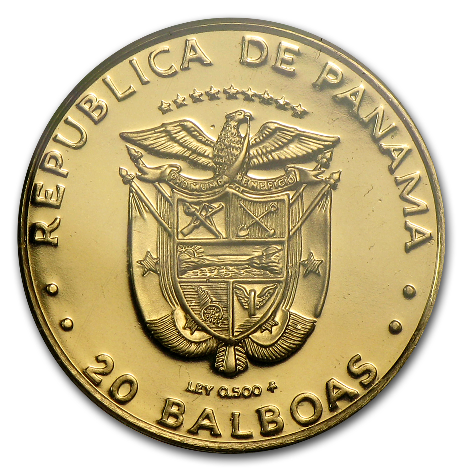 Panama 1983 20 Balboas Gold Proof Fish AGW .0344