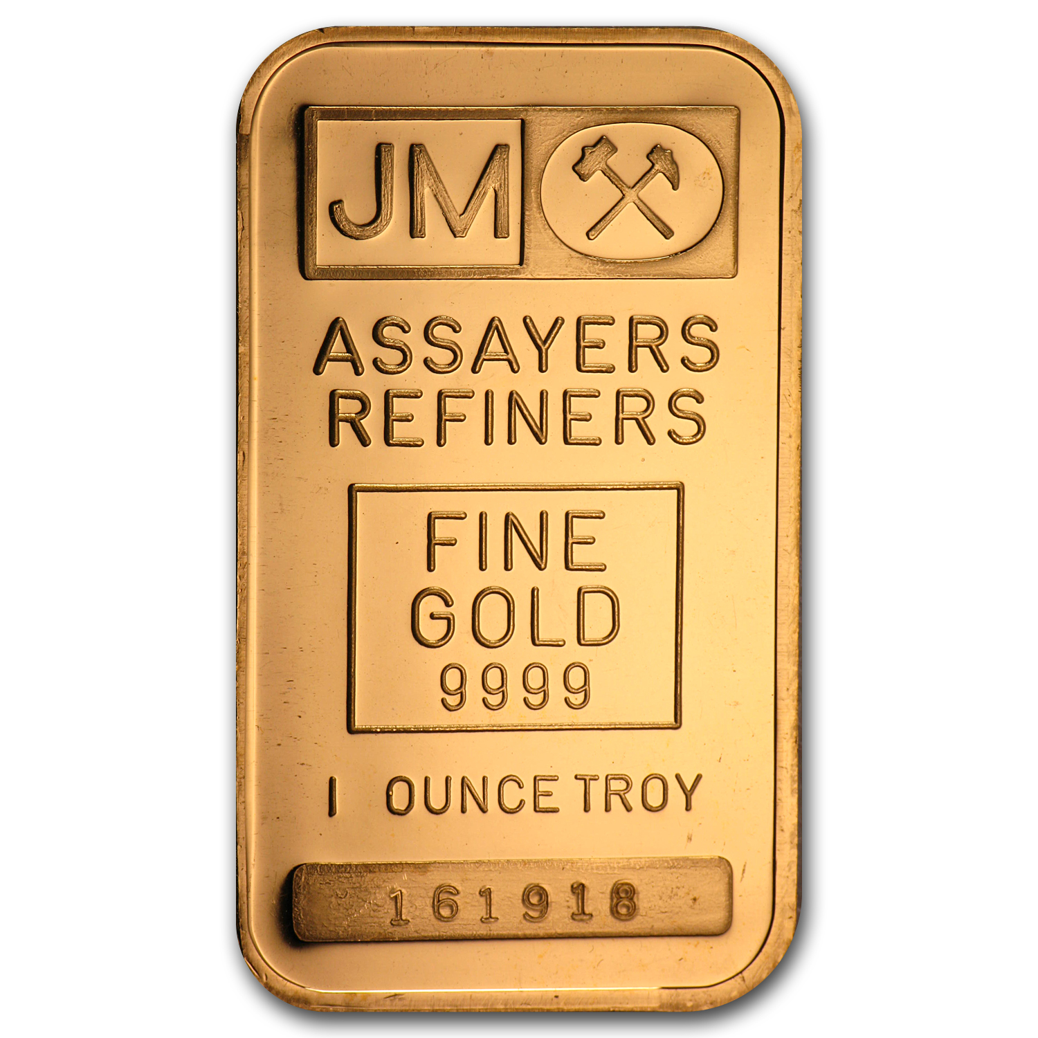 1 oz Gold Bars - Johnson Matthey (Plain Back, No Assay)
