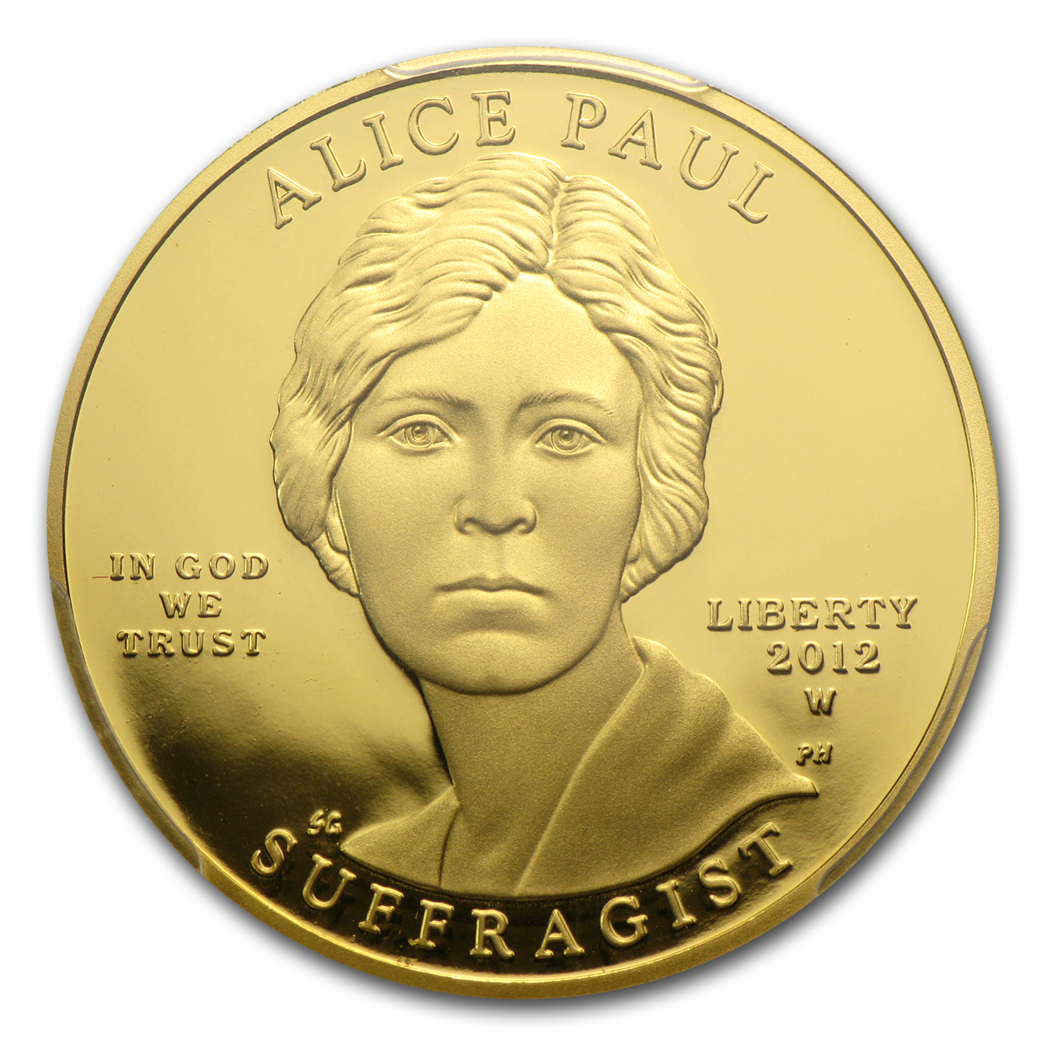 2012-W 1/2 oz Proof Gold Alice Paul PCGS PR-69 DCAM First Strike
