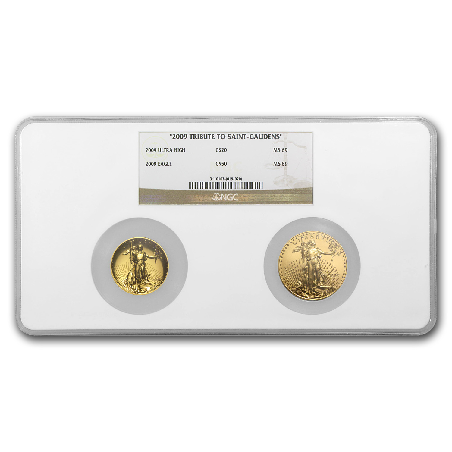 2009 Special Tribute to Saint-Gaudens Set MS-69 NGC