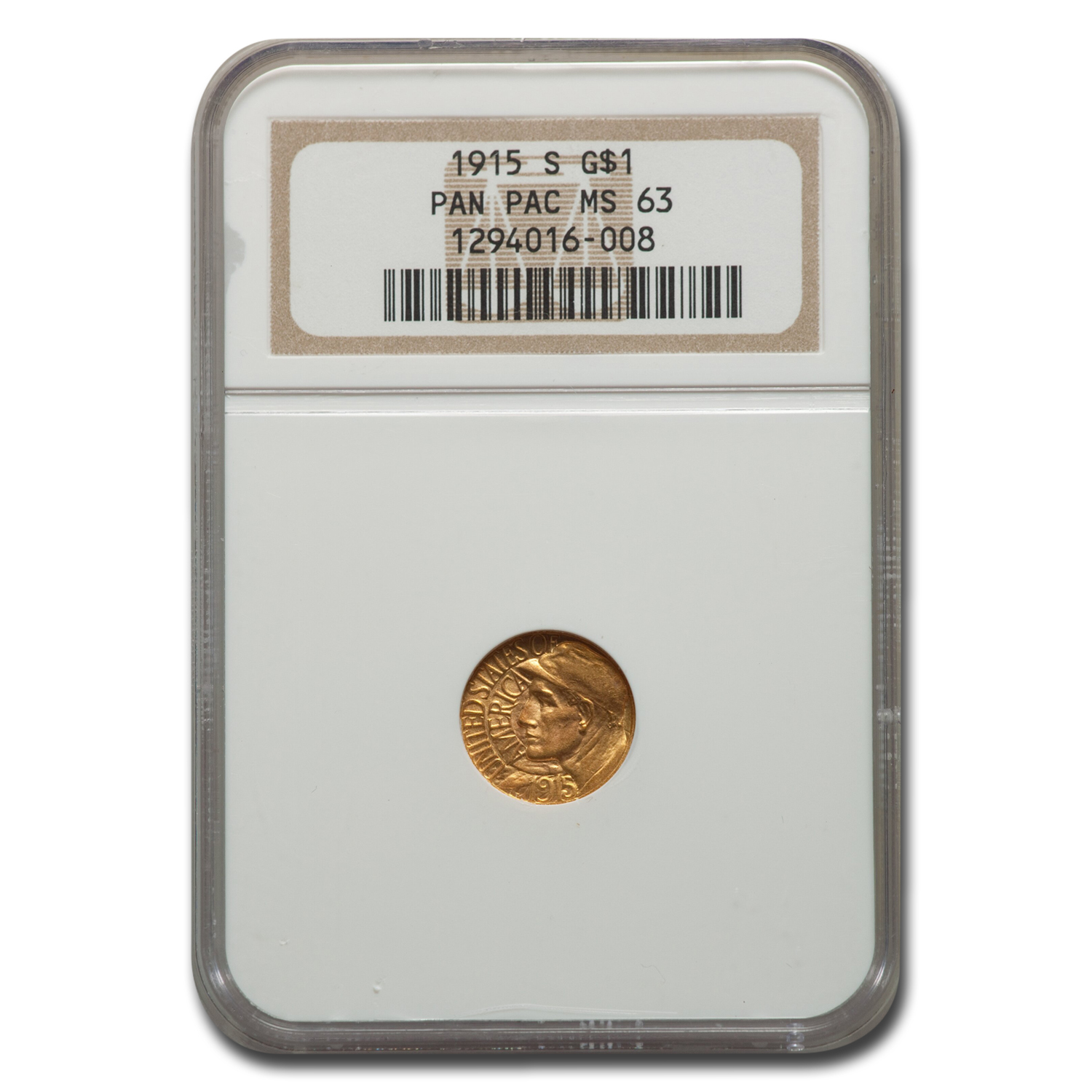 1915-S Gold $1.00 Panama-Pacific MS-63 NGC