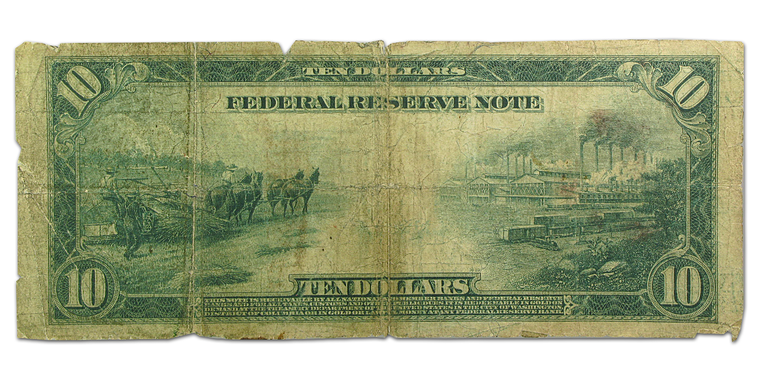1914 (H St. Louis) $10 FRN Good