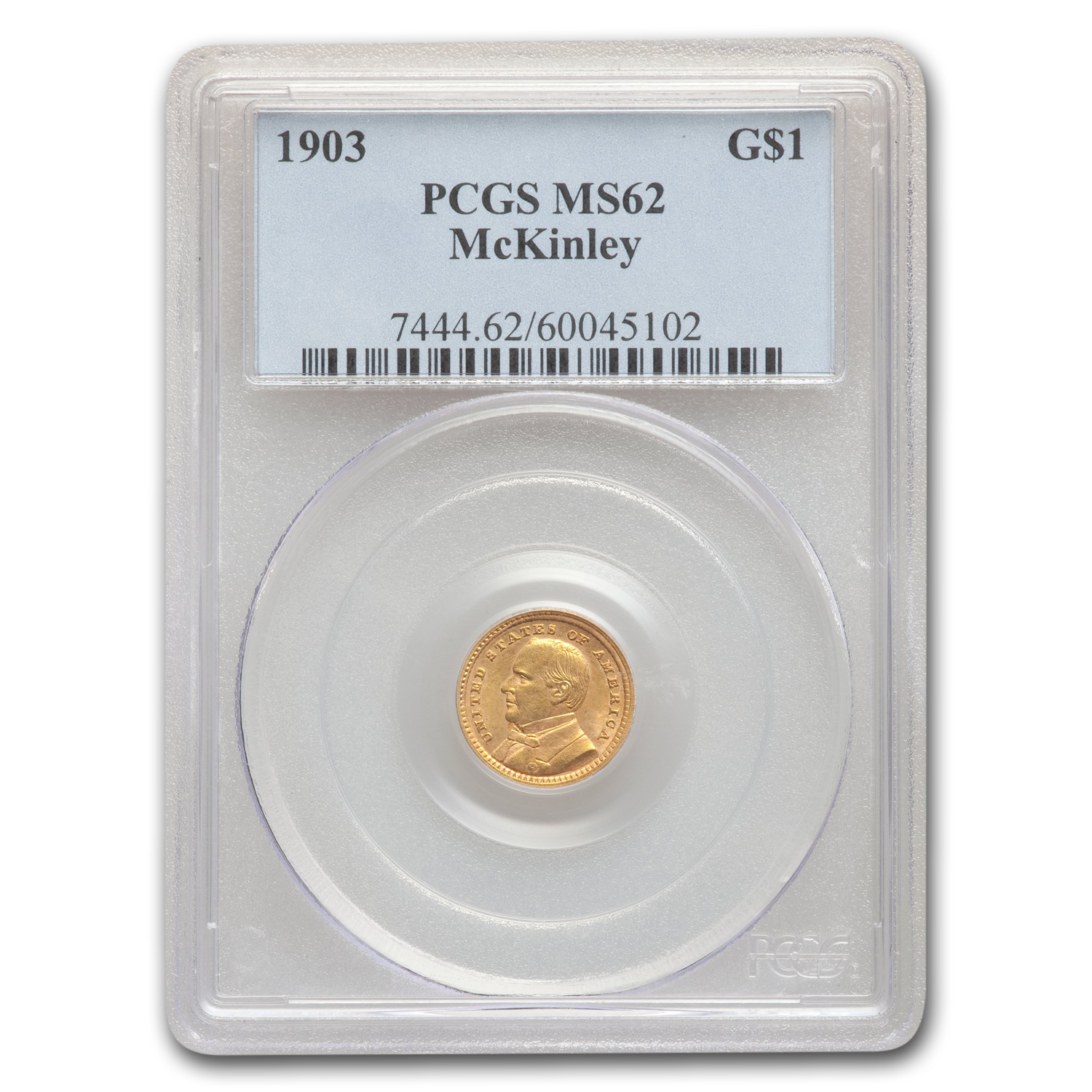 1903 Gold $1.00 Louisiana Purchase McKinley MS-62 PCGS