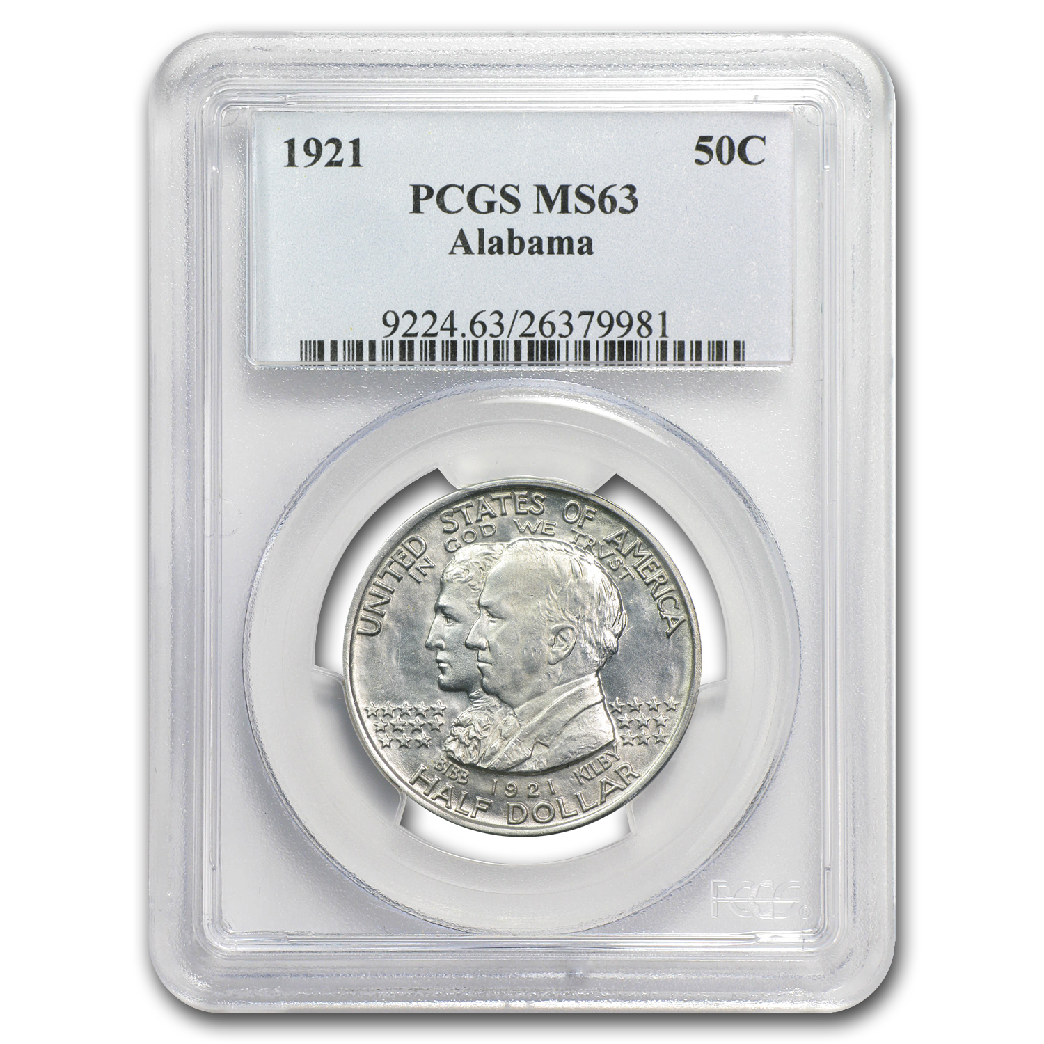 1921 Alabama Centennial Commemorative Half MS-63 PCGS