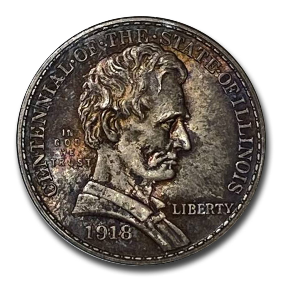 1918 Lincoln - Illinois Centennial MS-65 NGC