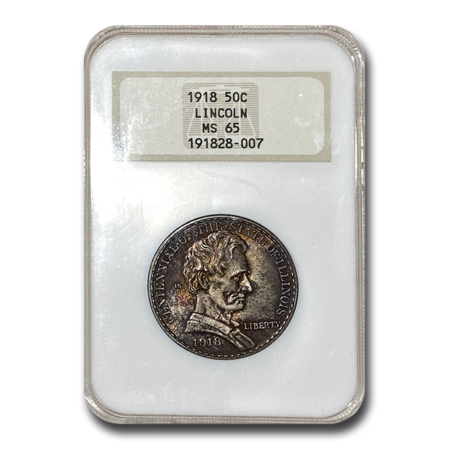 1918 Lincoln Illinois Centennial Half Dollar MS-65 NGC