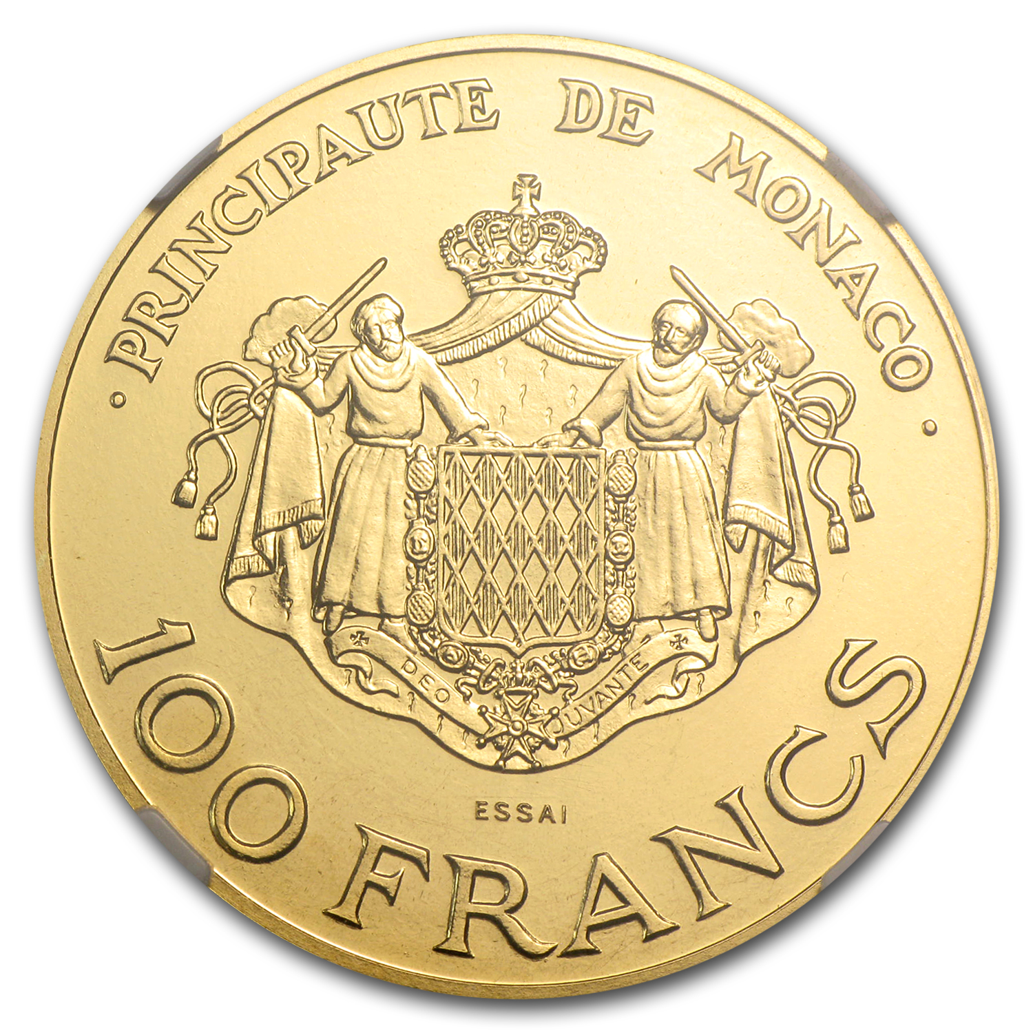 Monaco 1982 Gold 100 Francs Princes NGC MS-67