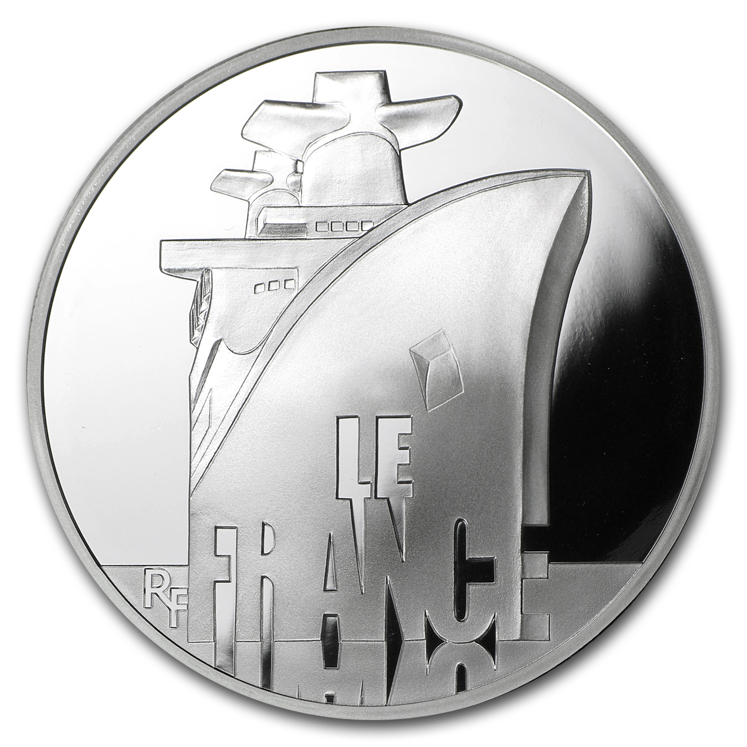 2012 Silver €10 Great French Ships Proof (The France)