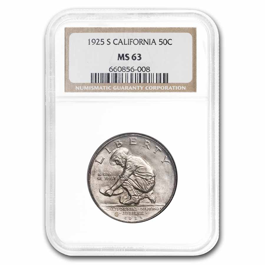 1925-S California Half Dollar MS-63 NGC