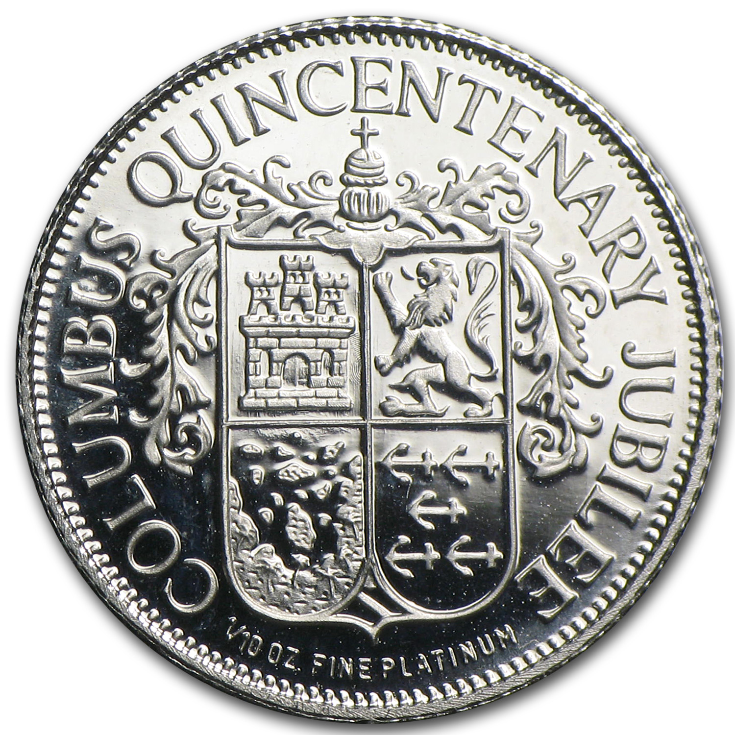 1/10 oz Platinum Round (Secondary Market) .999+ Fine