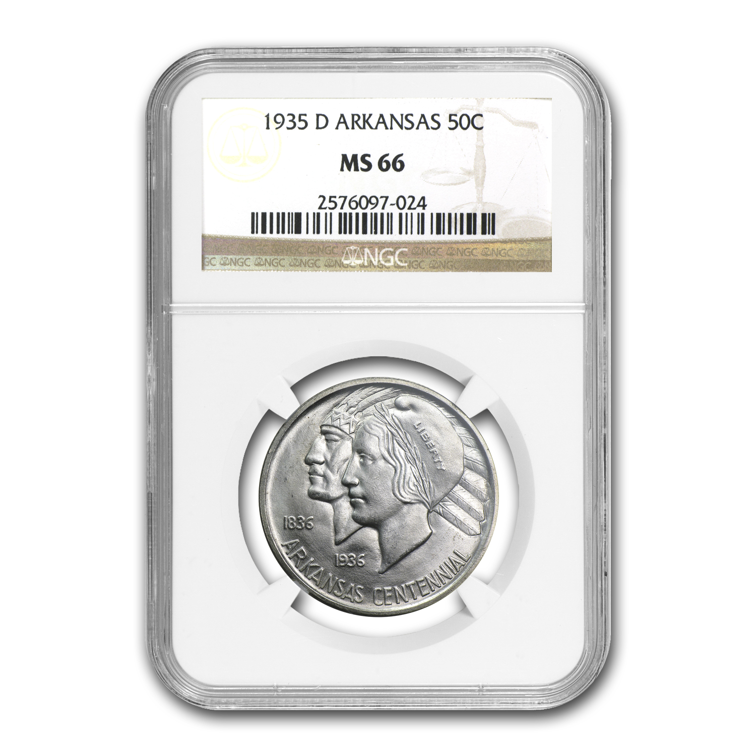 1935-D Arkansas Half Dollar MS-66 NGC