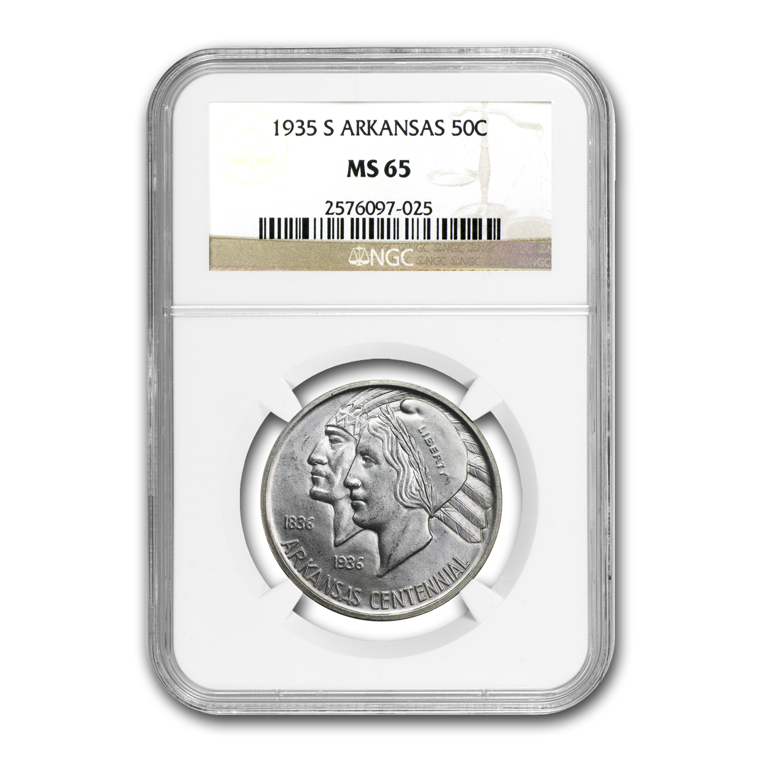 1935-S Arkansas MS-65 NGC