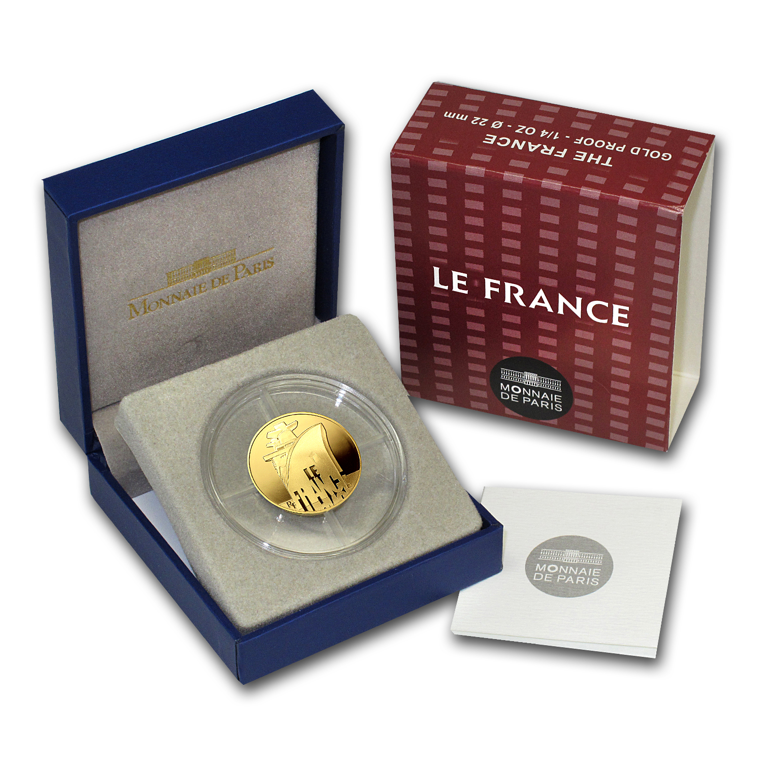 2012 1/4 oz Gold Proof Great French Ships - The France