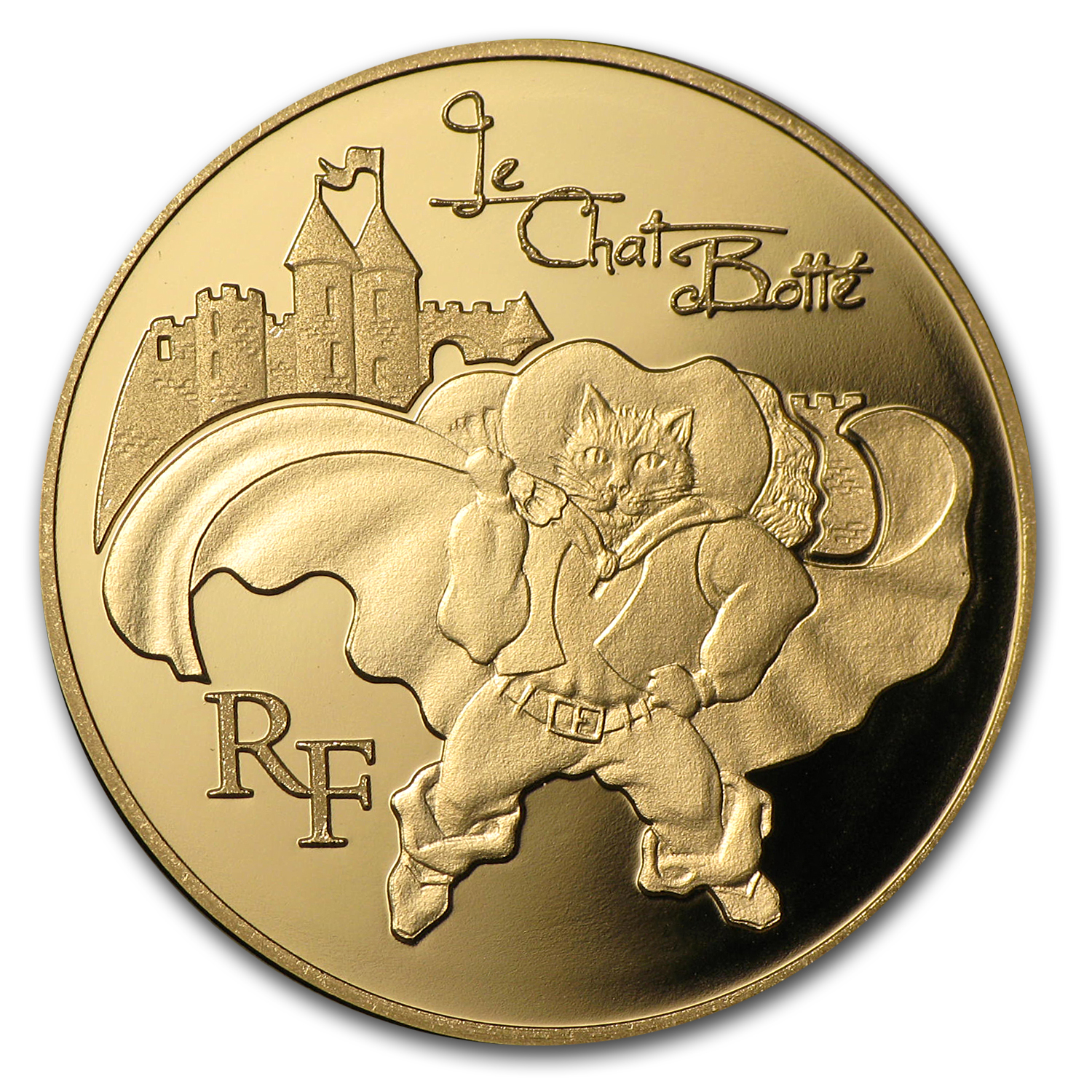 2012 1/4 oz Gold Proof Heroes of French Literature- Puss in Boots