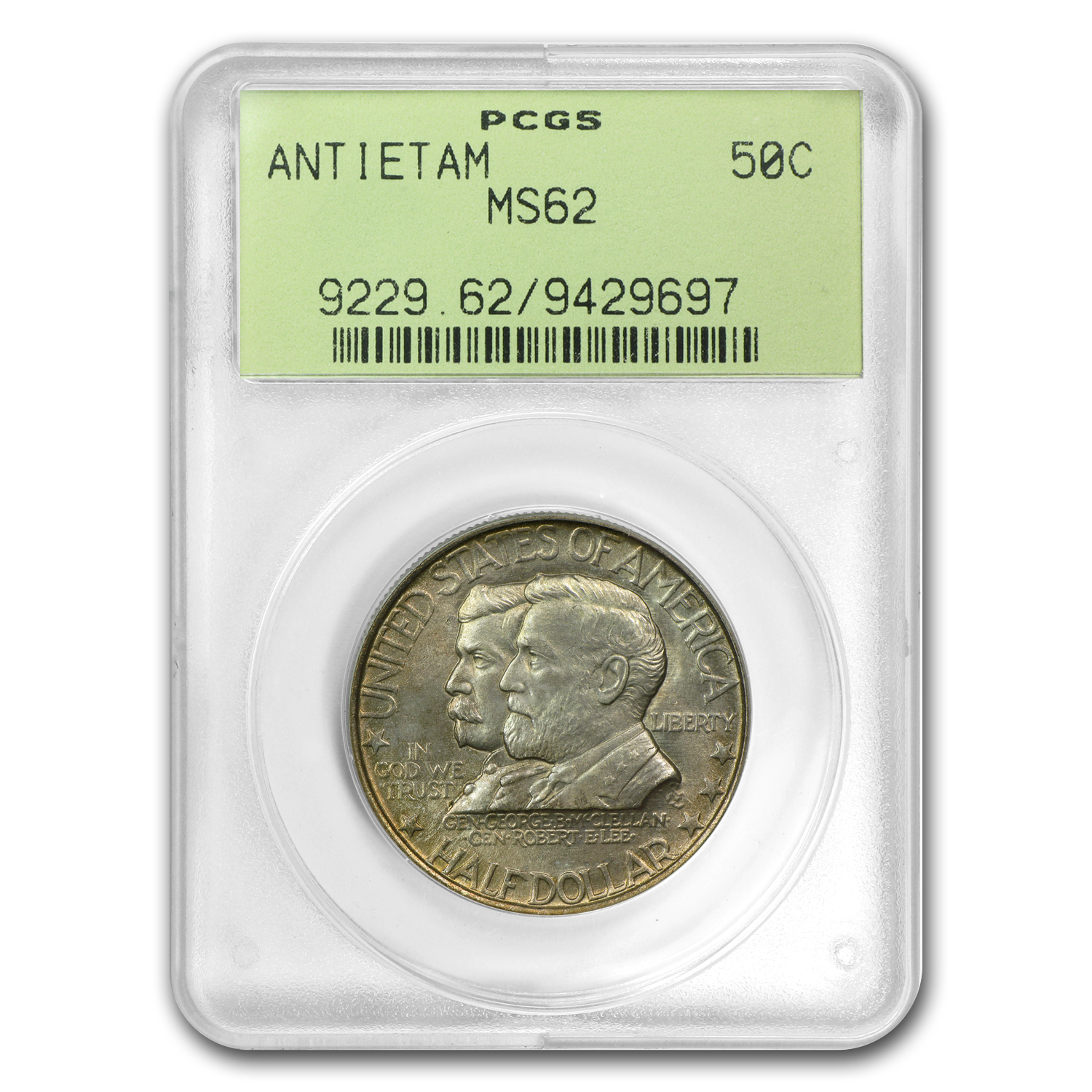 1937 Battle of Antietam Anniversary Half Dollar MS-62 PCGS