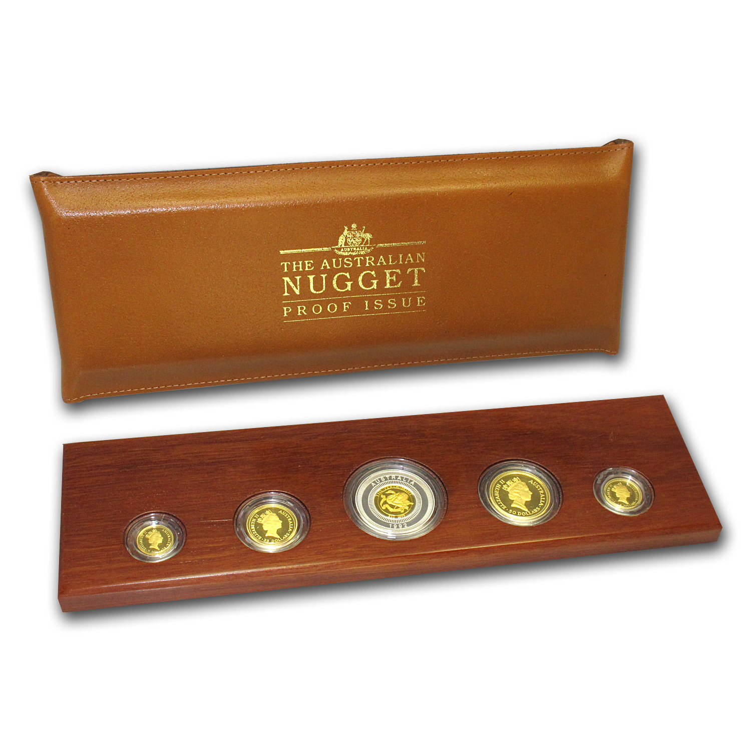 1992 Australia 5-Coin Gold Nugget Proof Set (Eagle Privy)