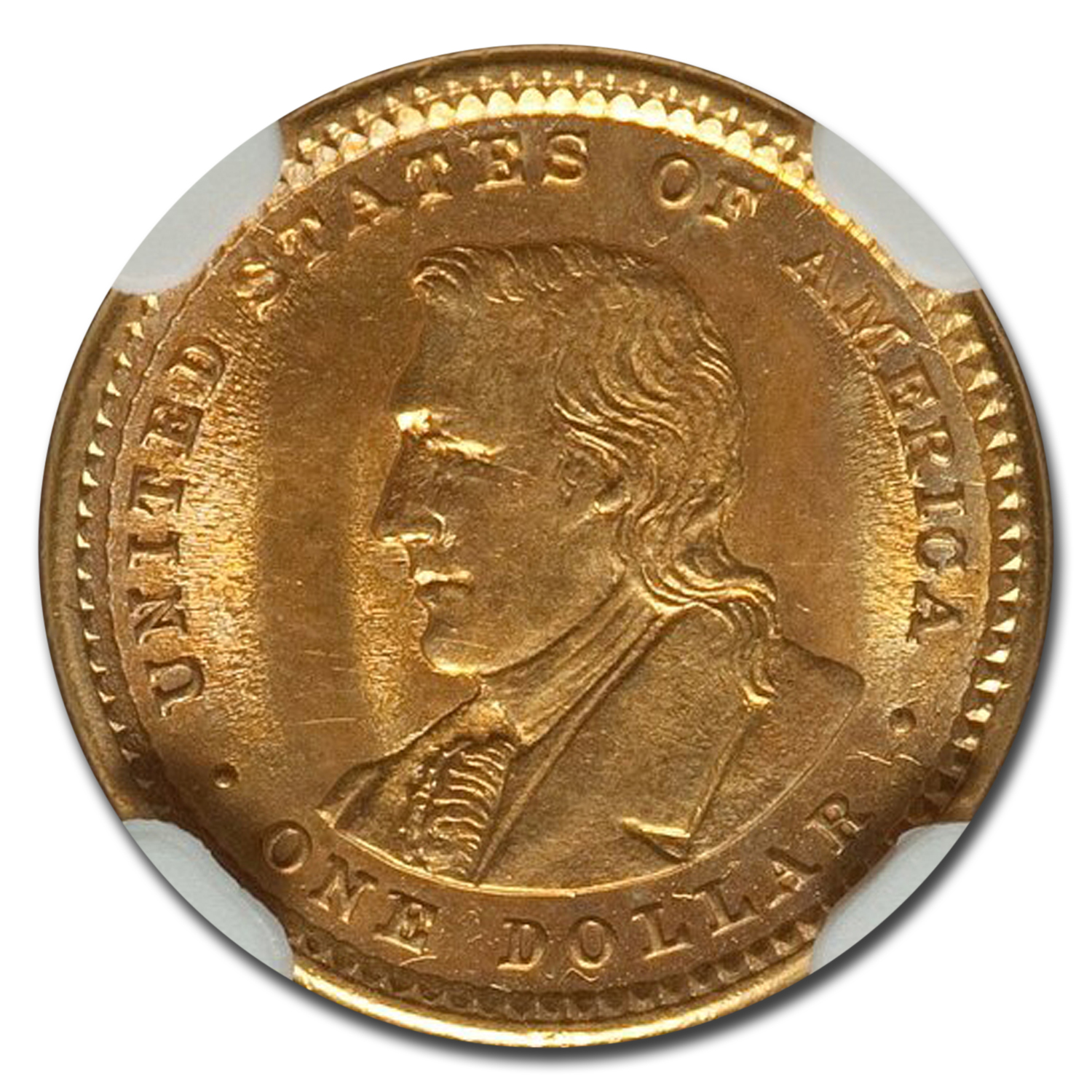 1905 Gold $1.00 Lewis & Clark Commem MS-65 NGC