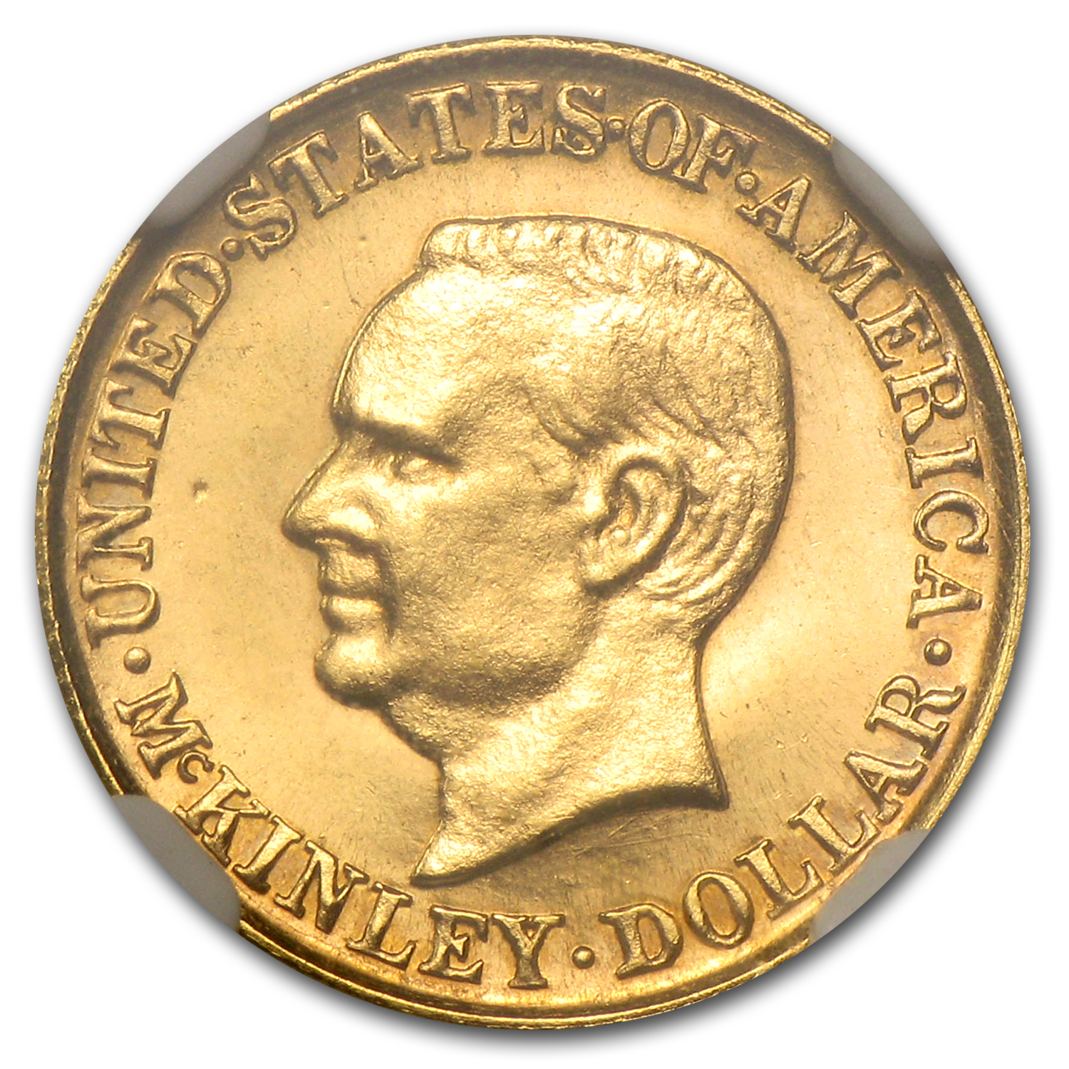 1916 Gold $1.00 McKinley MS-65 &#9733 Star NGC