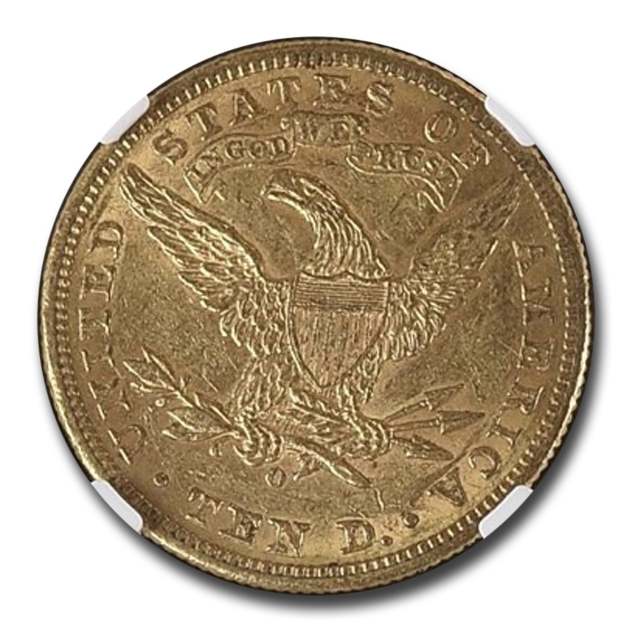 1895-O $10 Liberty Gold Eagle AU-58 NGC