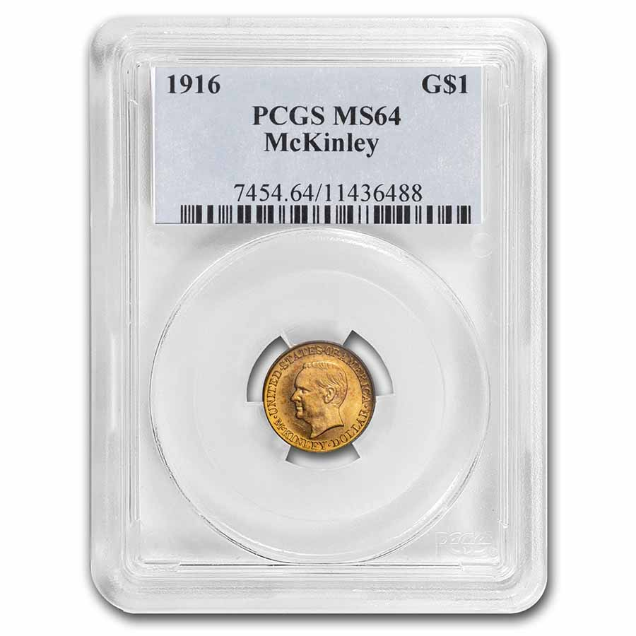 1916 $1.00 Gold McKinley MS-64 PCGS