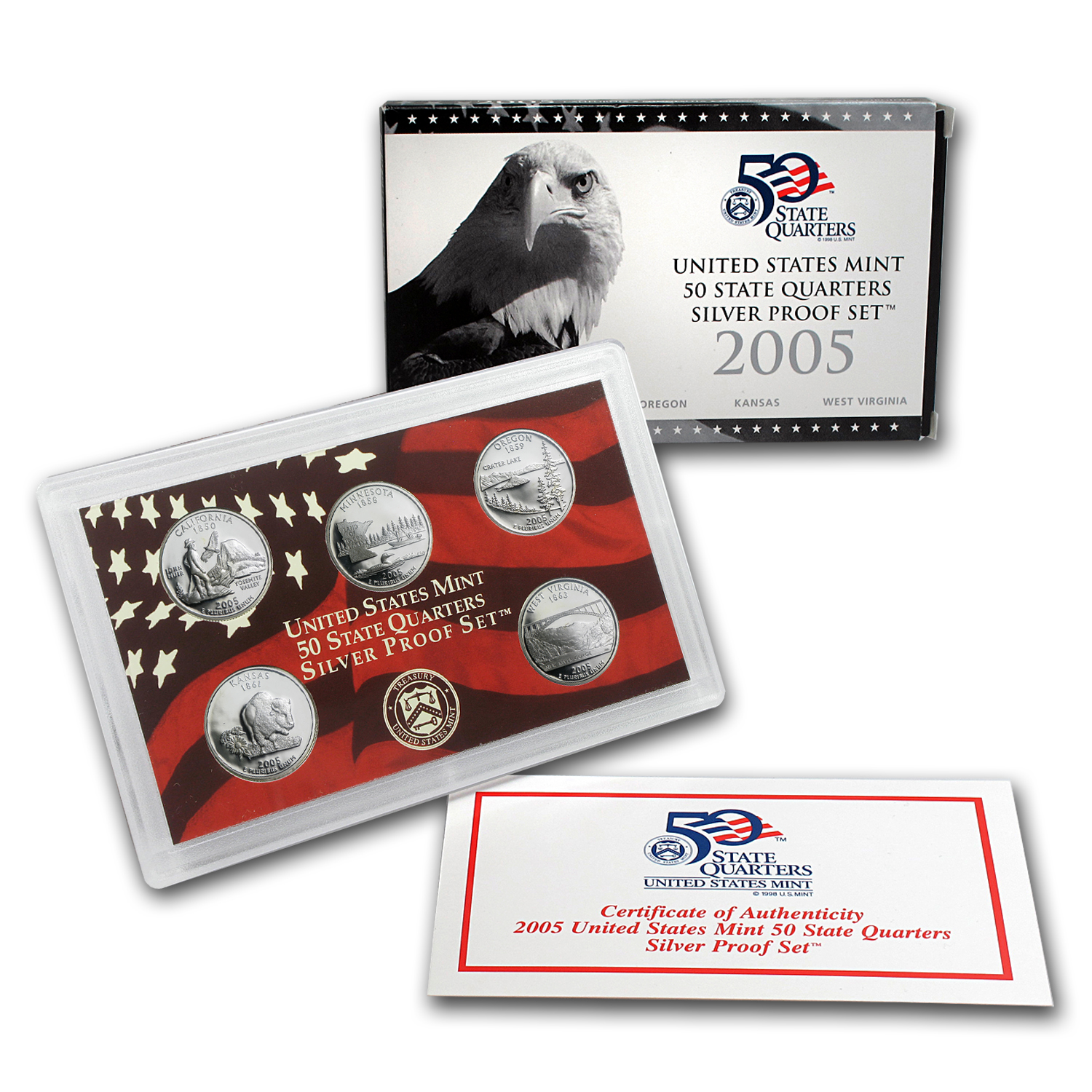 2005 State Quarters Silver Proof Set
