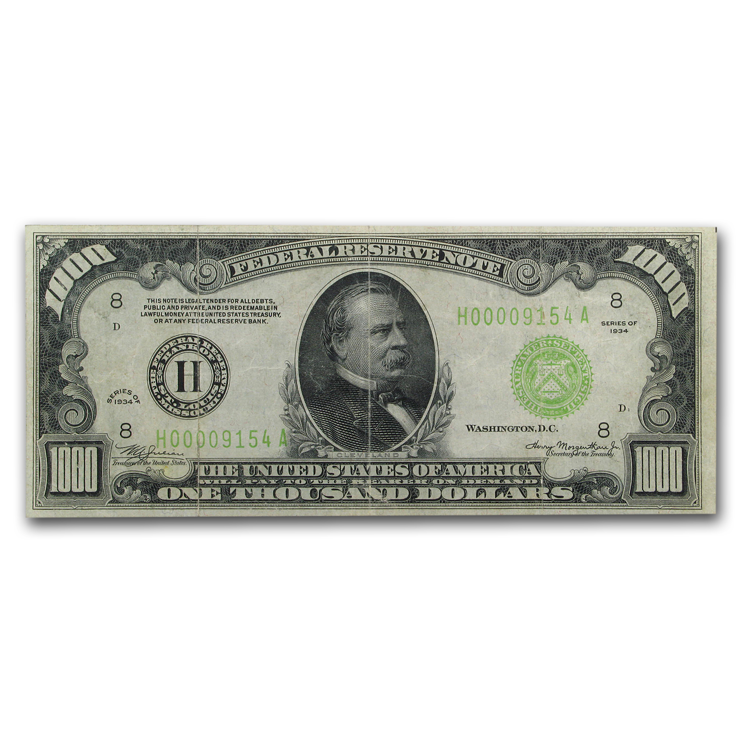 1934 (H-St. Louis) $1,000 FRN (Extra Fine)