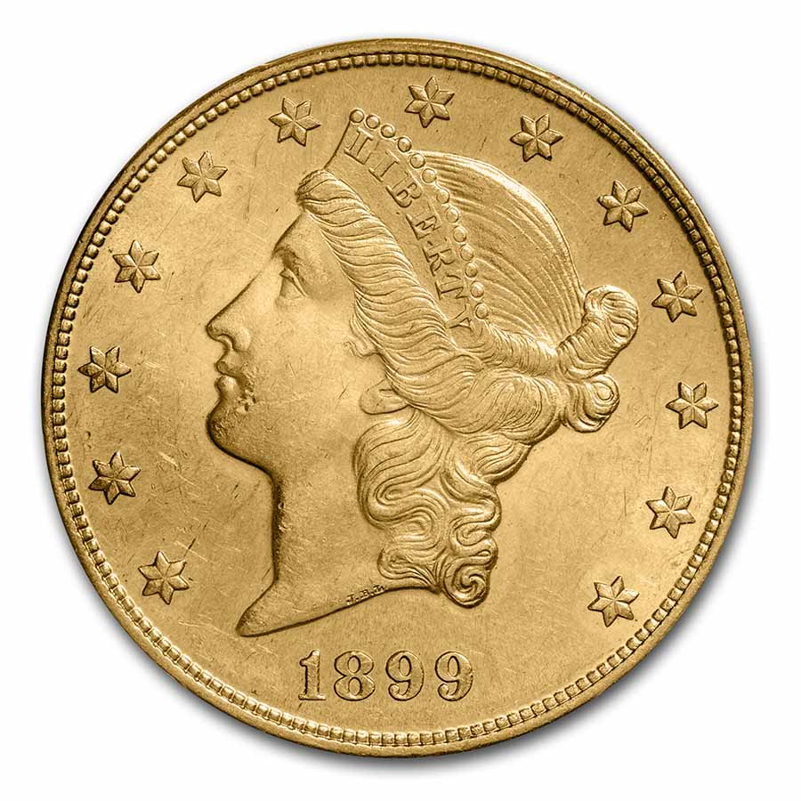 1899-S $20 Liberty Gold Double Eagle MS-63 PCGS
