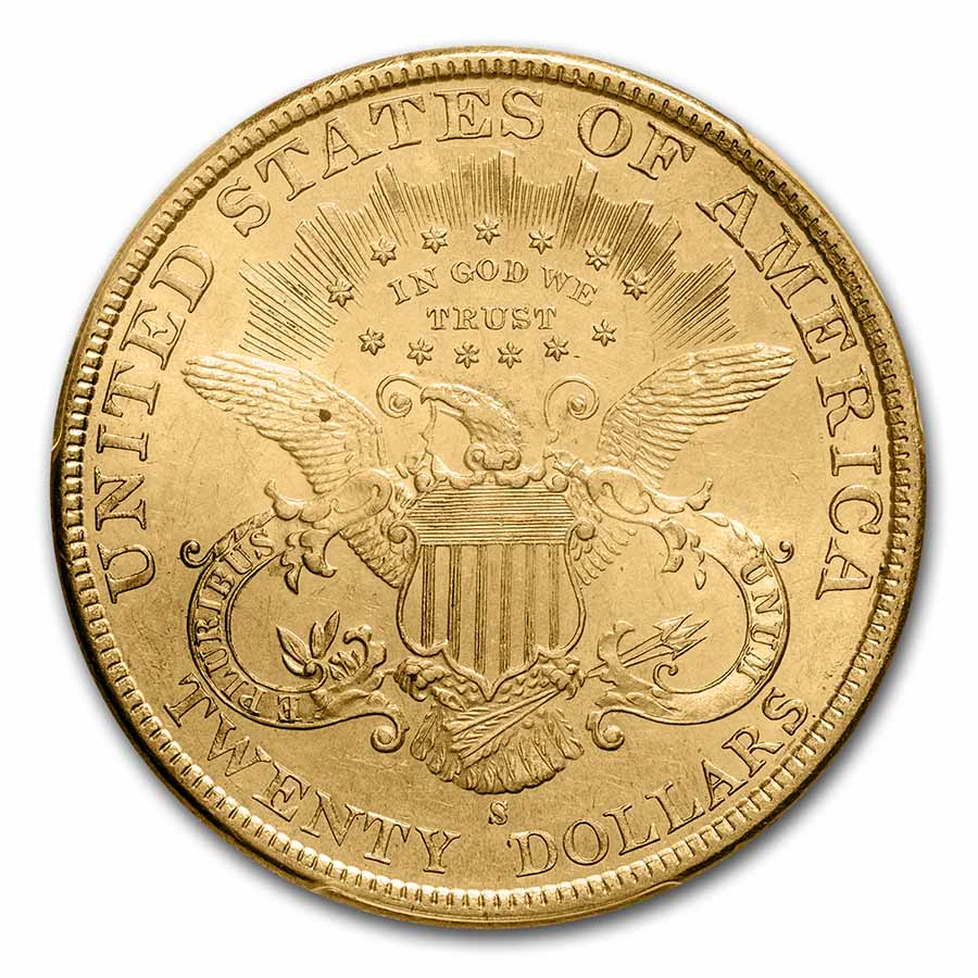 1899-S $20 Gold Liberty Double Eagle MS-63 PCGS