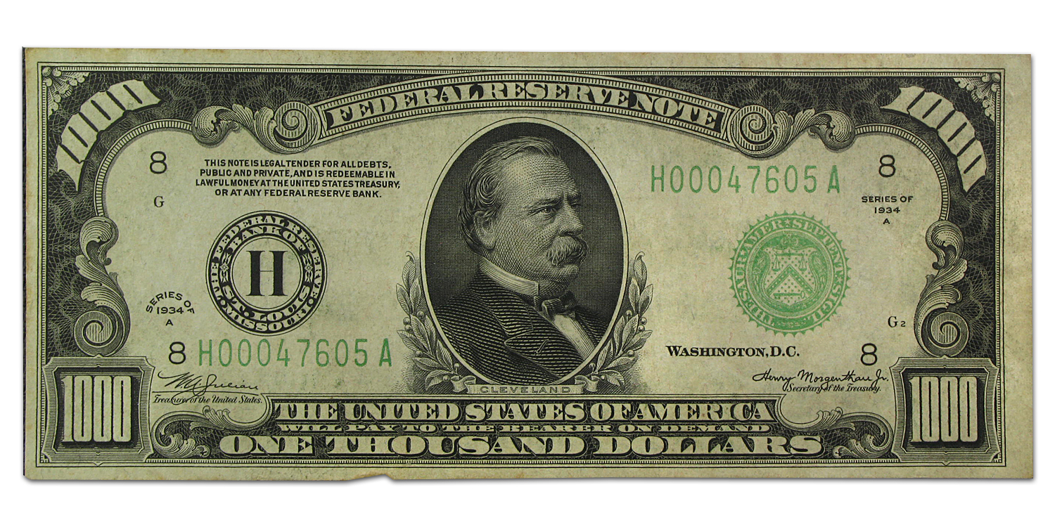 1934-A (H-St. Louis) $1,000 FRN (Very Fine) Plus)