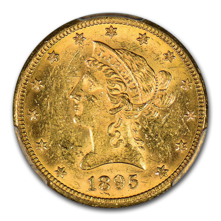 1895-O $10 Liberty Gold Eagle MS-61 PCGS