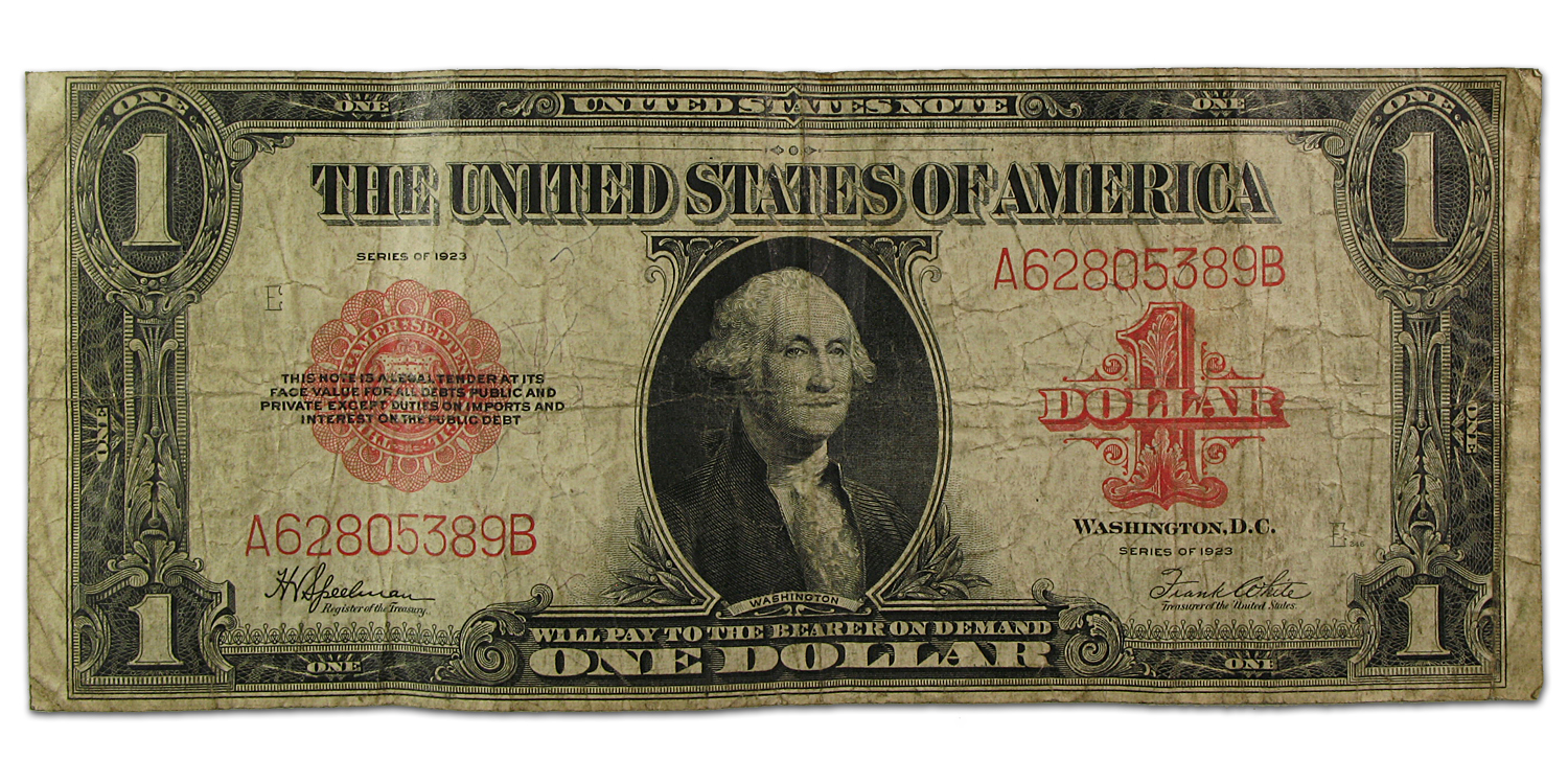 1923  Red Seal United States $1.00 Note (Fine)