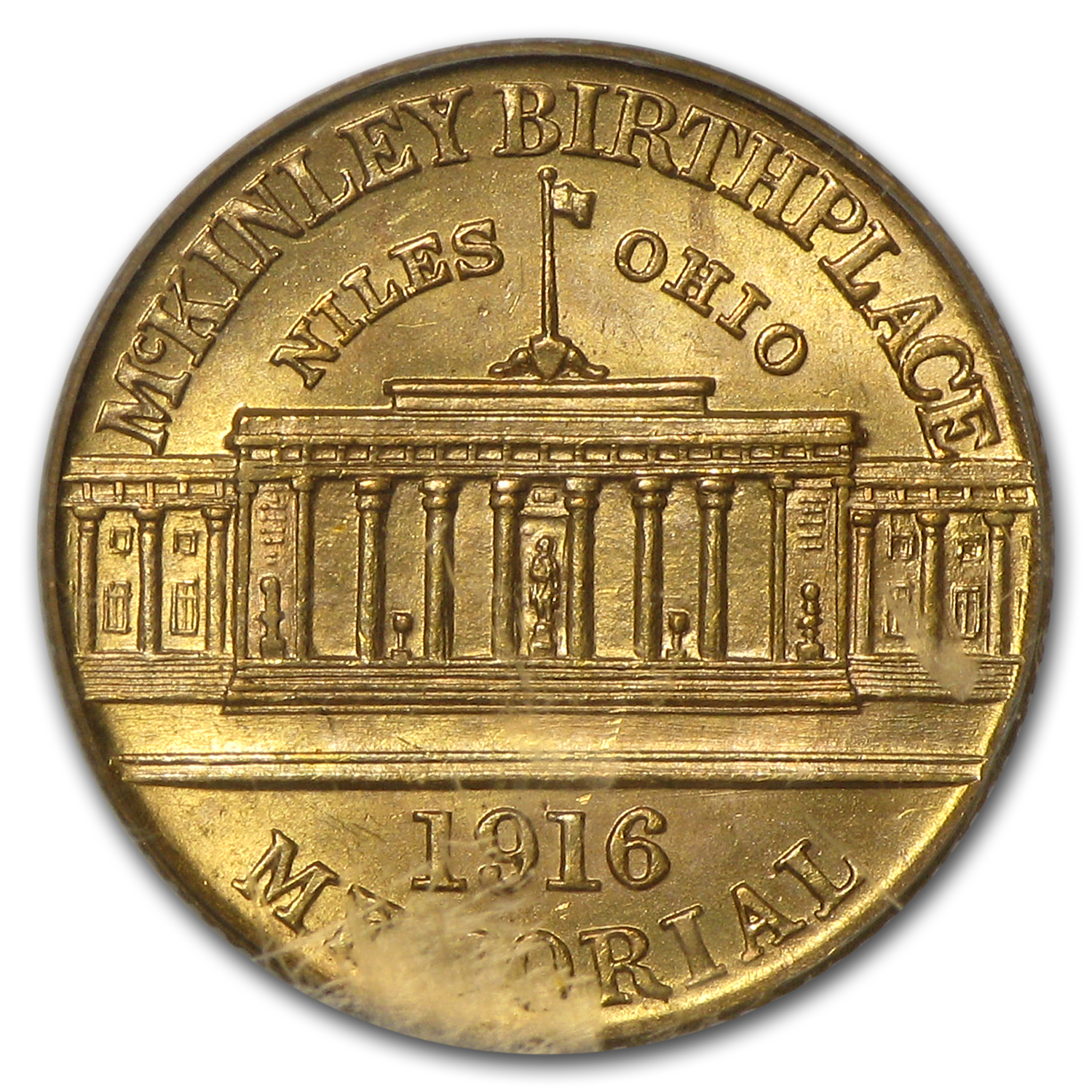 1916 $1.00 Gold McKinley MS-62 PCGS