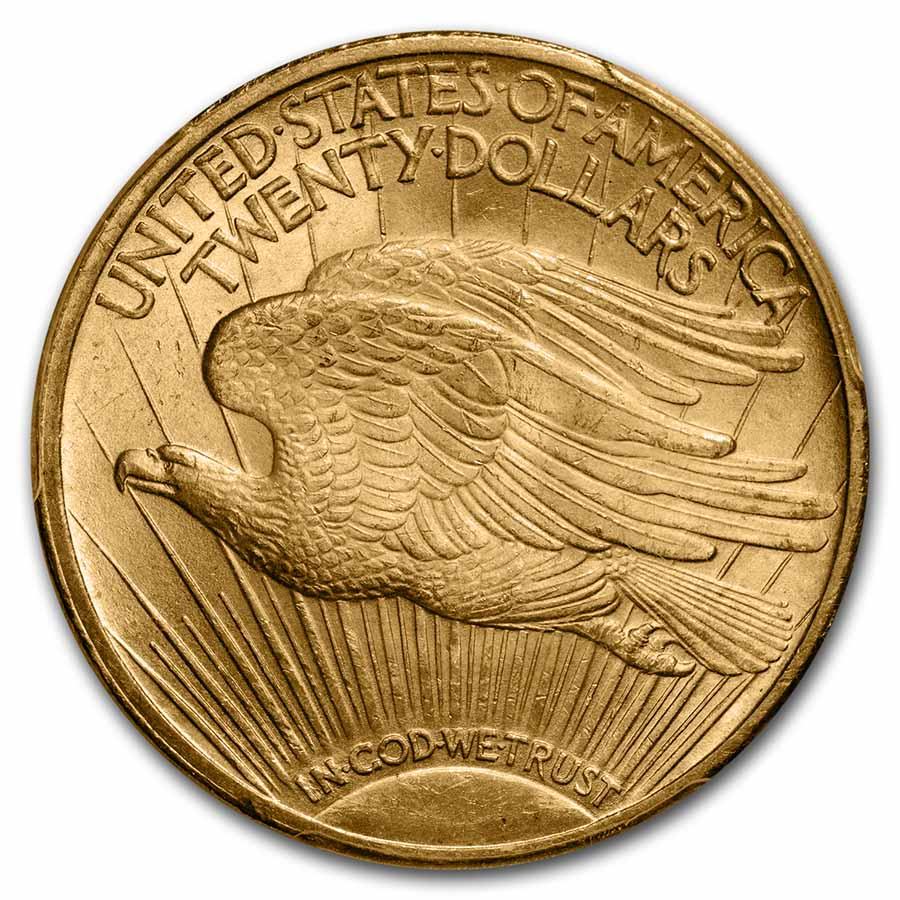 1923 $20 St. Gaudens Gold Double Eagle - MS-65 PCGS