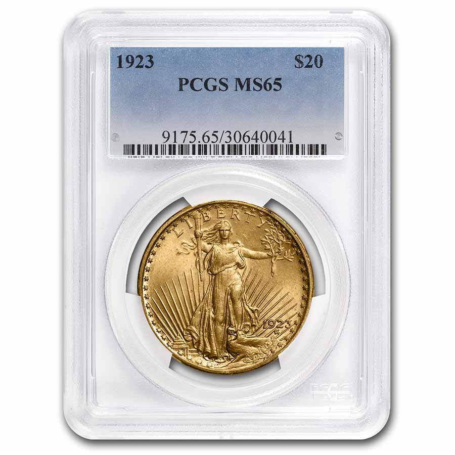 1923 $20 St. Gaudens Gold Double Eagle MS-65 PCGS