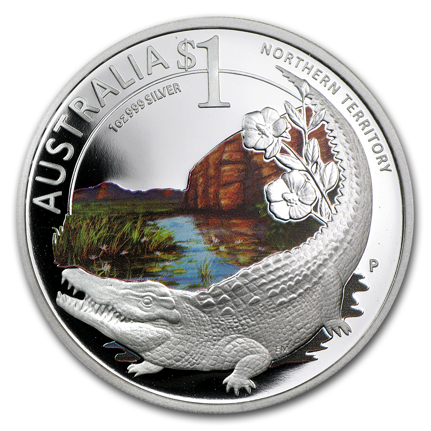 2010 Australia 1 oz Silver Crocodile Proof (ANA, w/Box & COA)