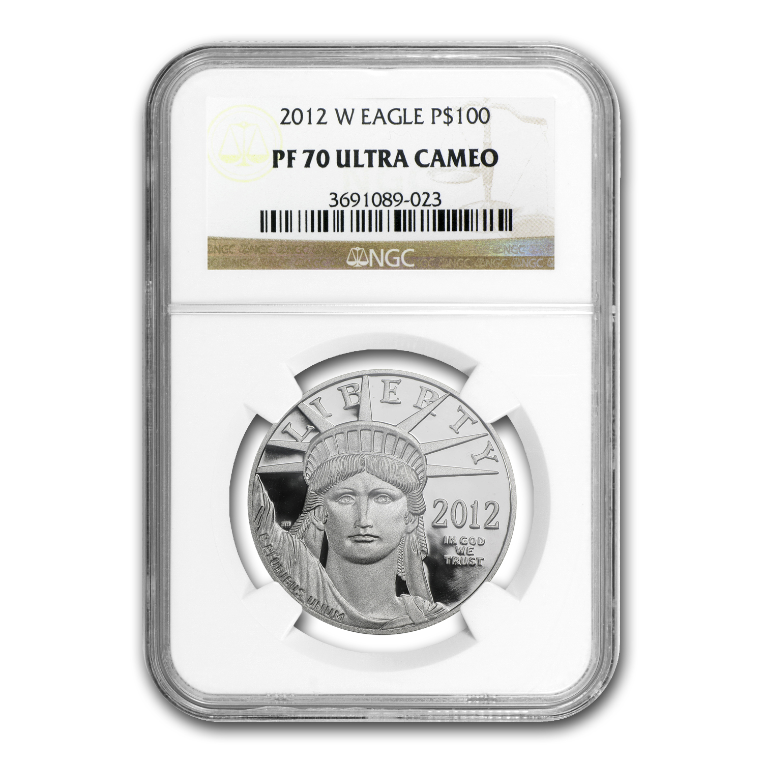 2012-W 1 oz Proof Platinum American Eagle PF-70 NGC