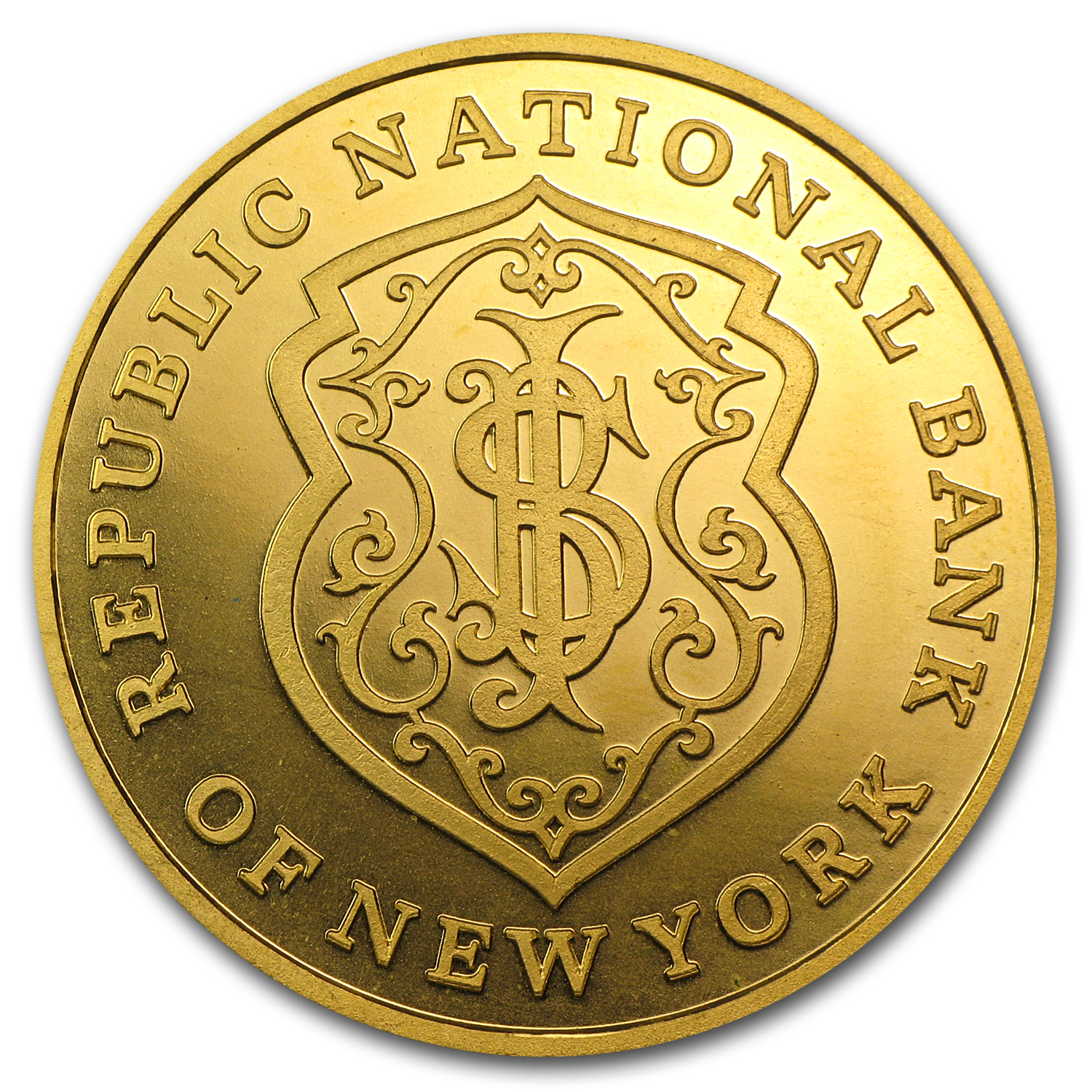1 oz Gold Rounds - Republic National Bank of New York