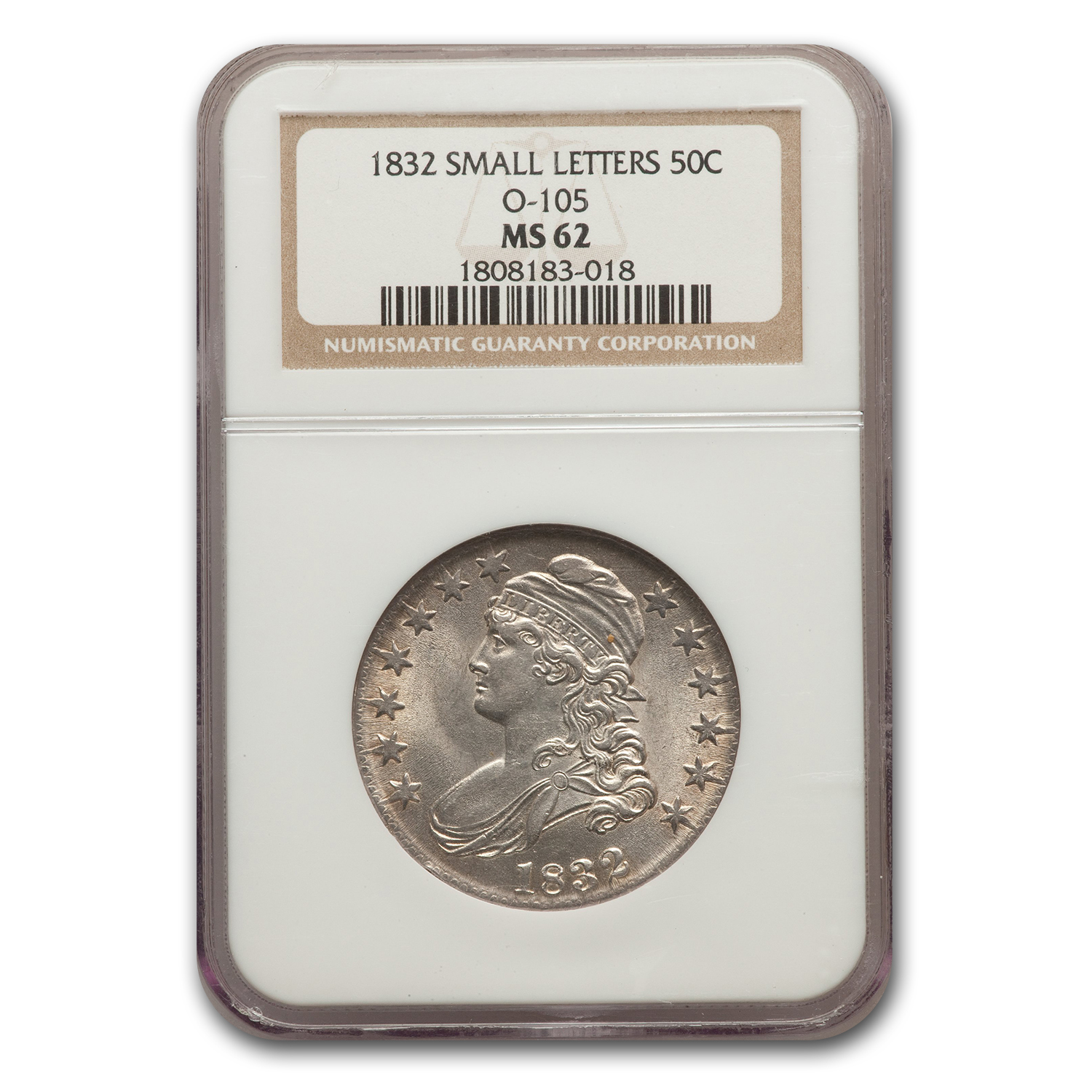 1832-P Capped Bust Half Dollar MS-62 NGC