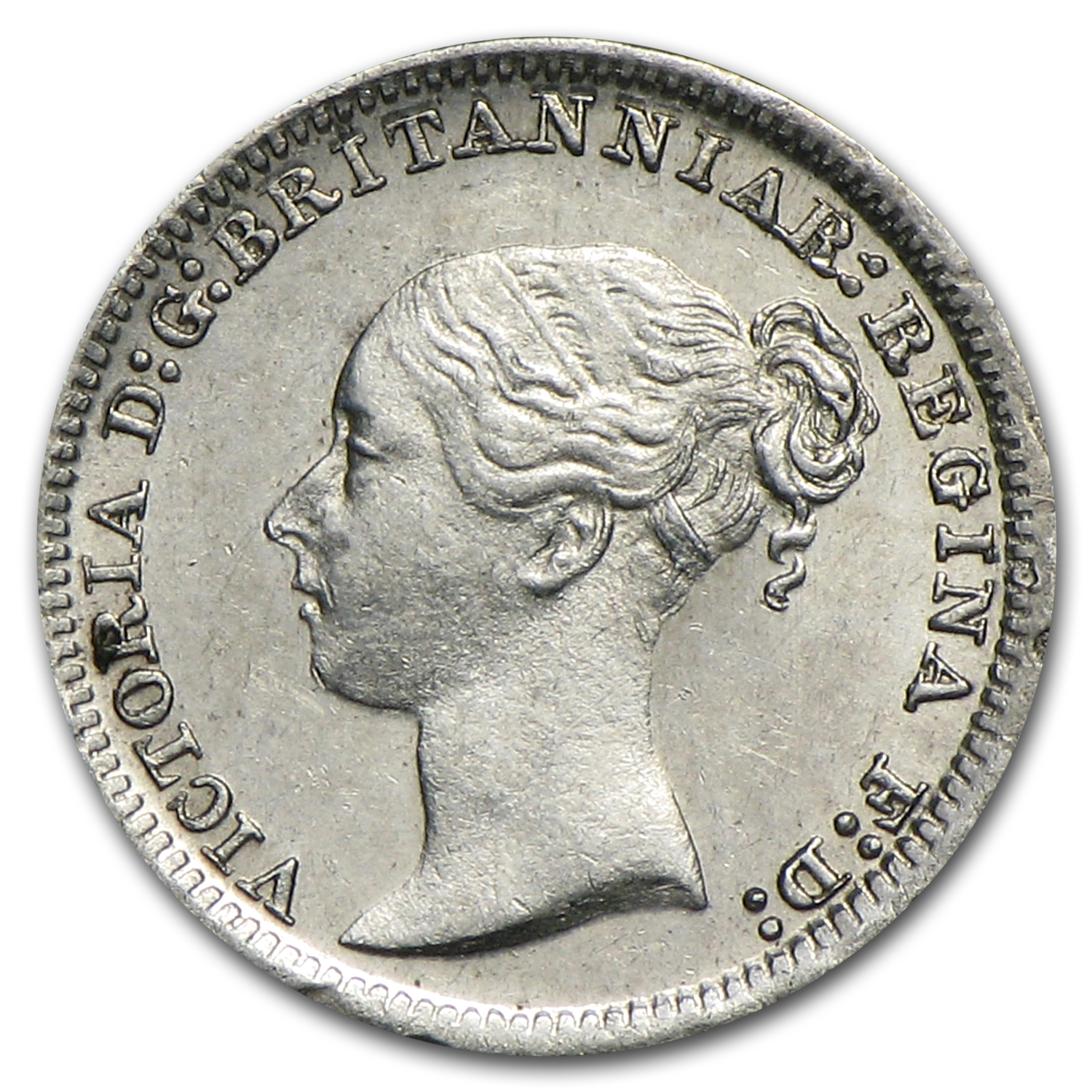 1883 Great Britain Silver 1 Pence BU