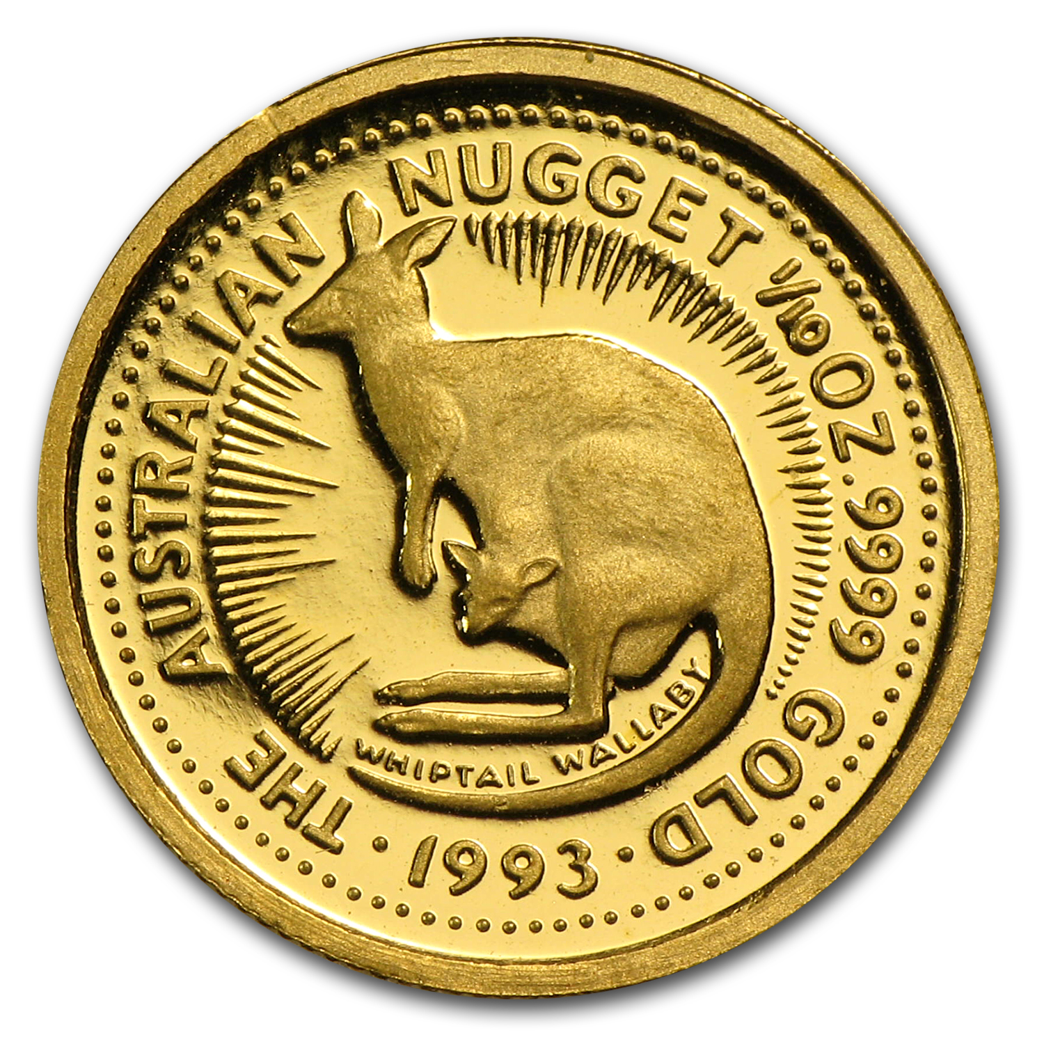 1993 Australia 1/10 oz Proof Gold Nugget