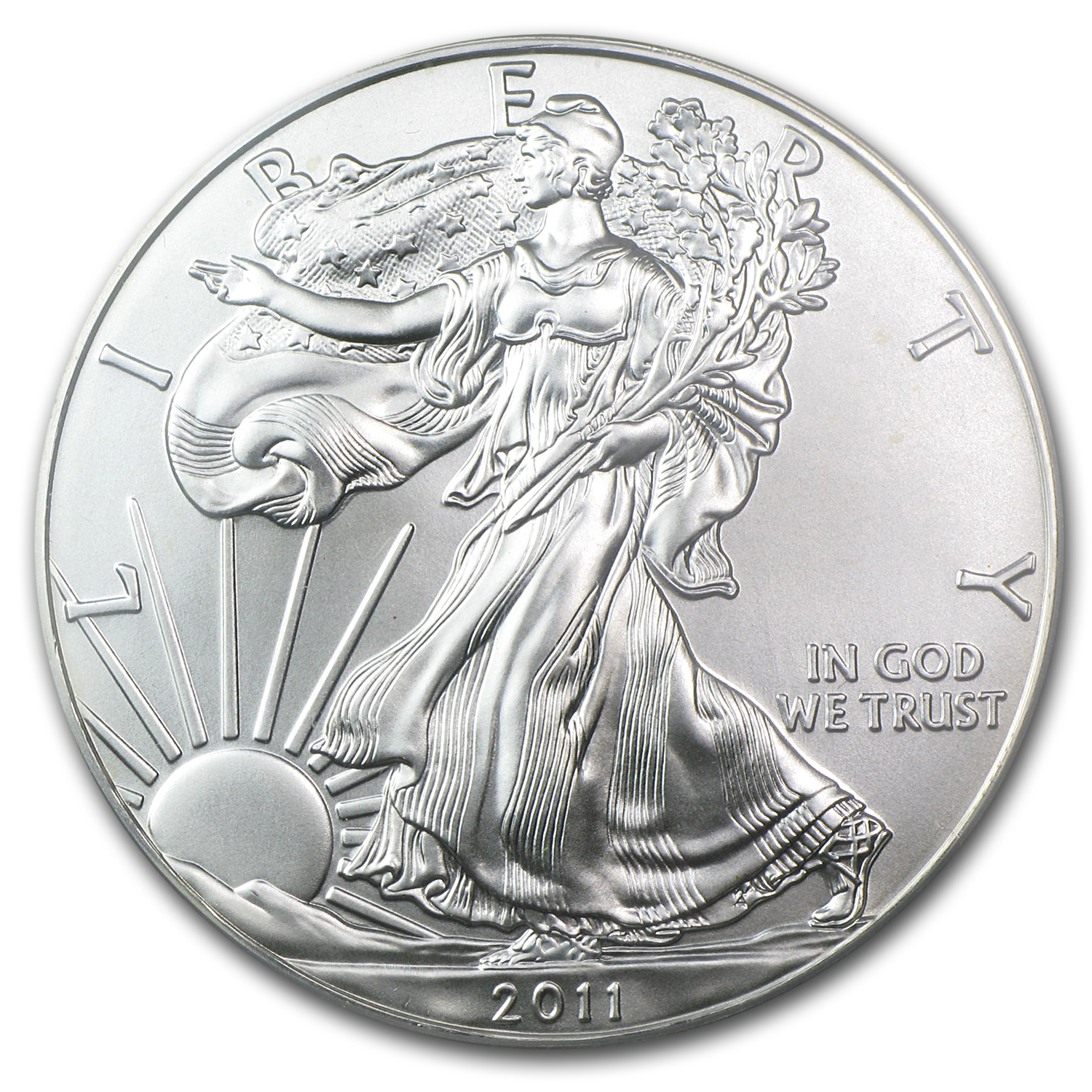 2011 Silver American Eagle MS-70 PCGS (FS, 25th Anniv)