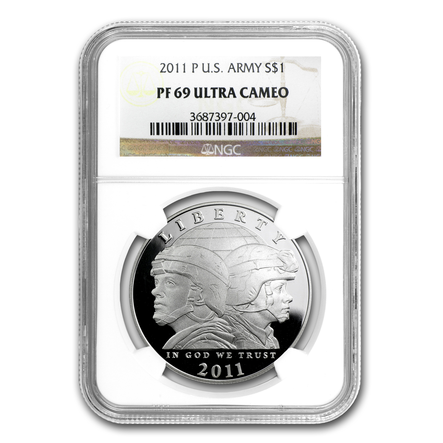 2011-P United States Army $1 Silver Commemorative PF-69 NGC