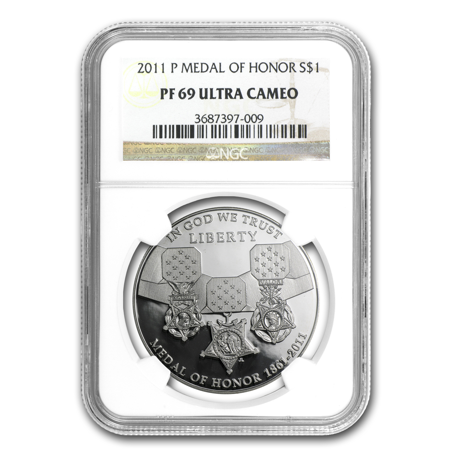 2011-P Medal of Honor $1 Silver Commem PF-69 NGC