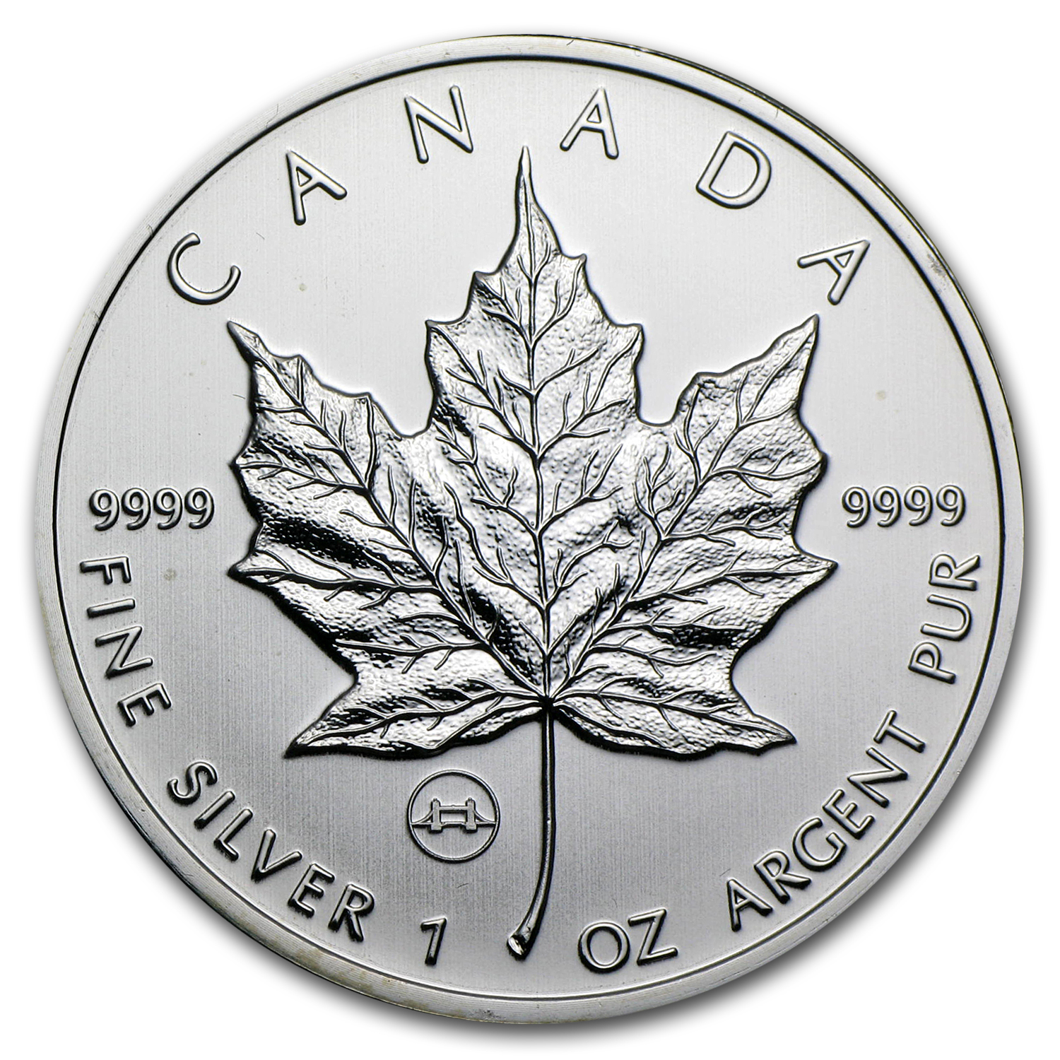 2009 1 oz Silver Canadian Maple Leaf - Tower Bridge Privy