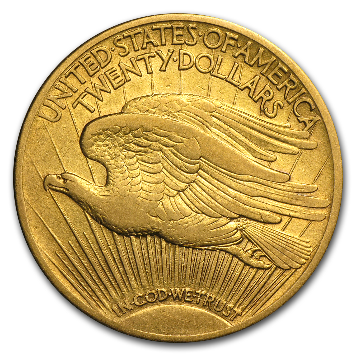 1909/8 $20 St. Gaudens Gold Double Eagle VF