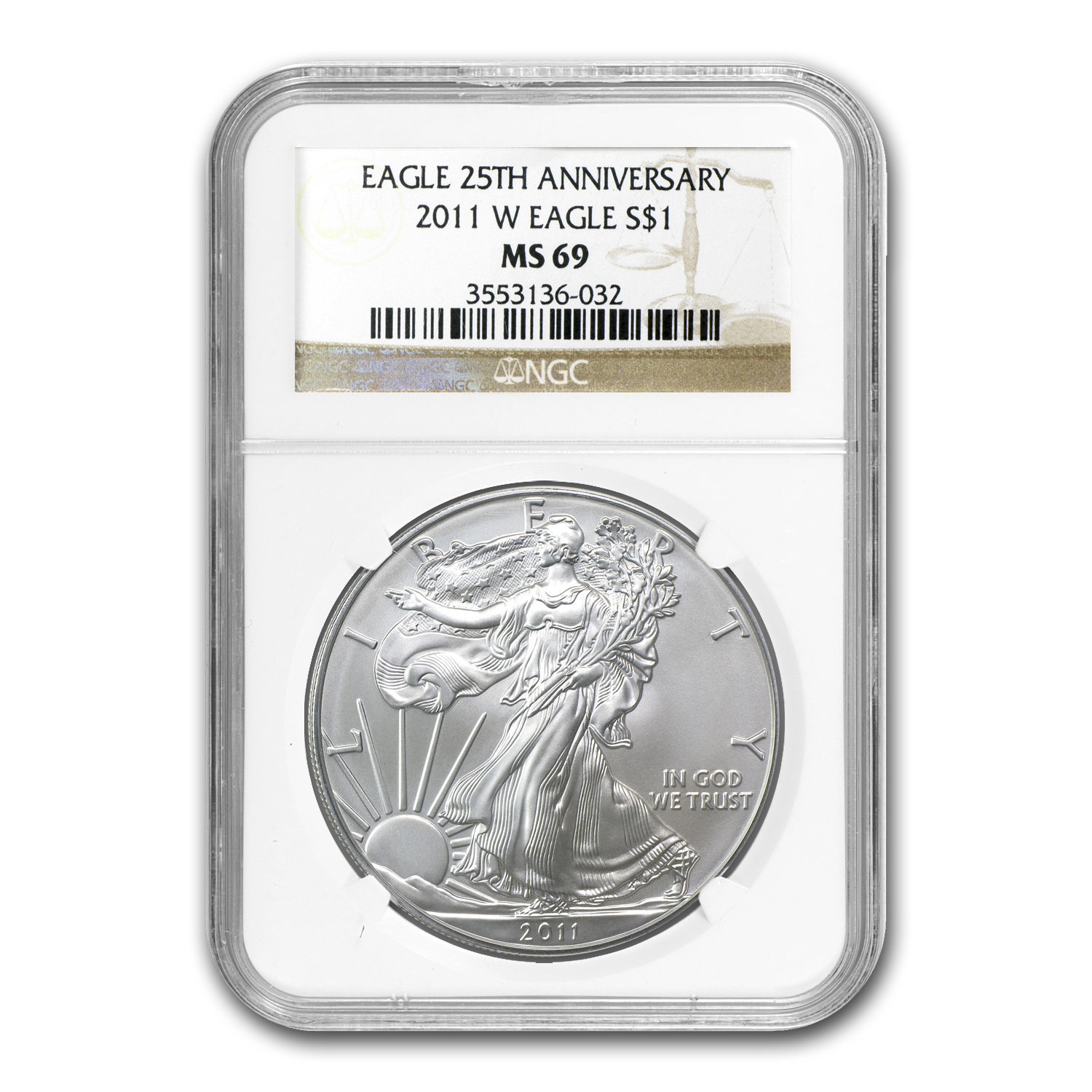 2011 (W) Silver American Eagle MS-69 NGC