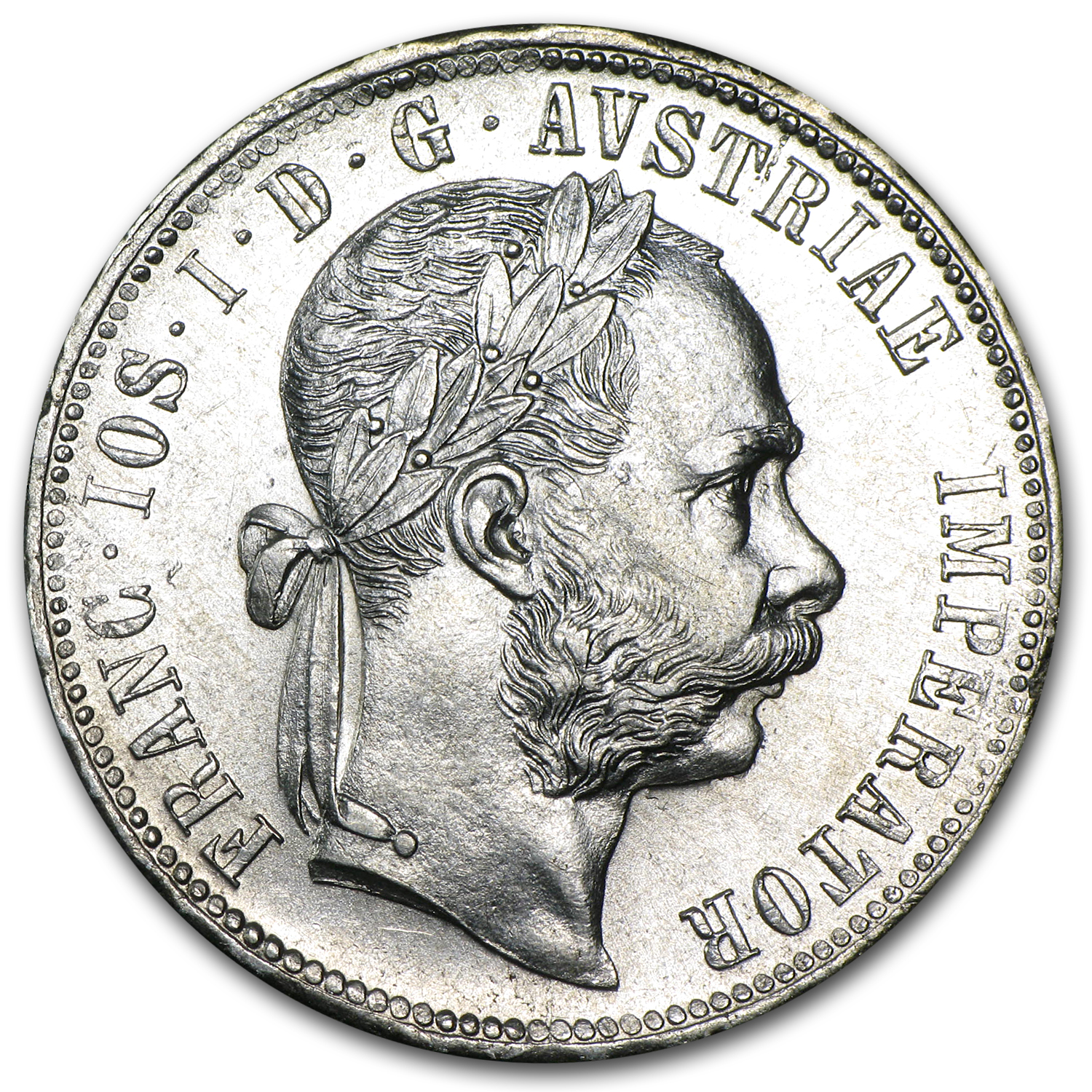 Austria 1880 Florin Silver Brilliant Uncirculated